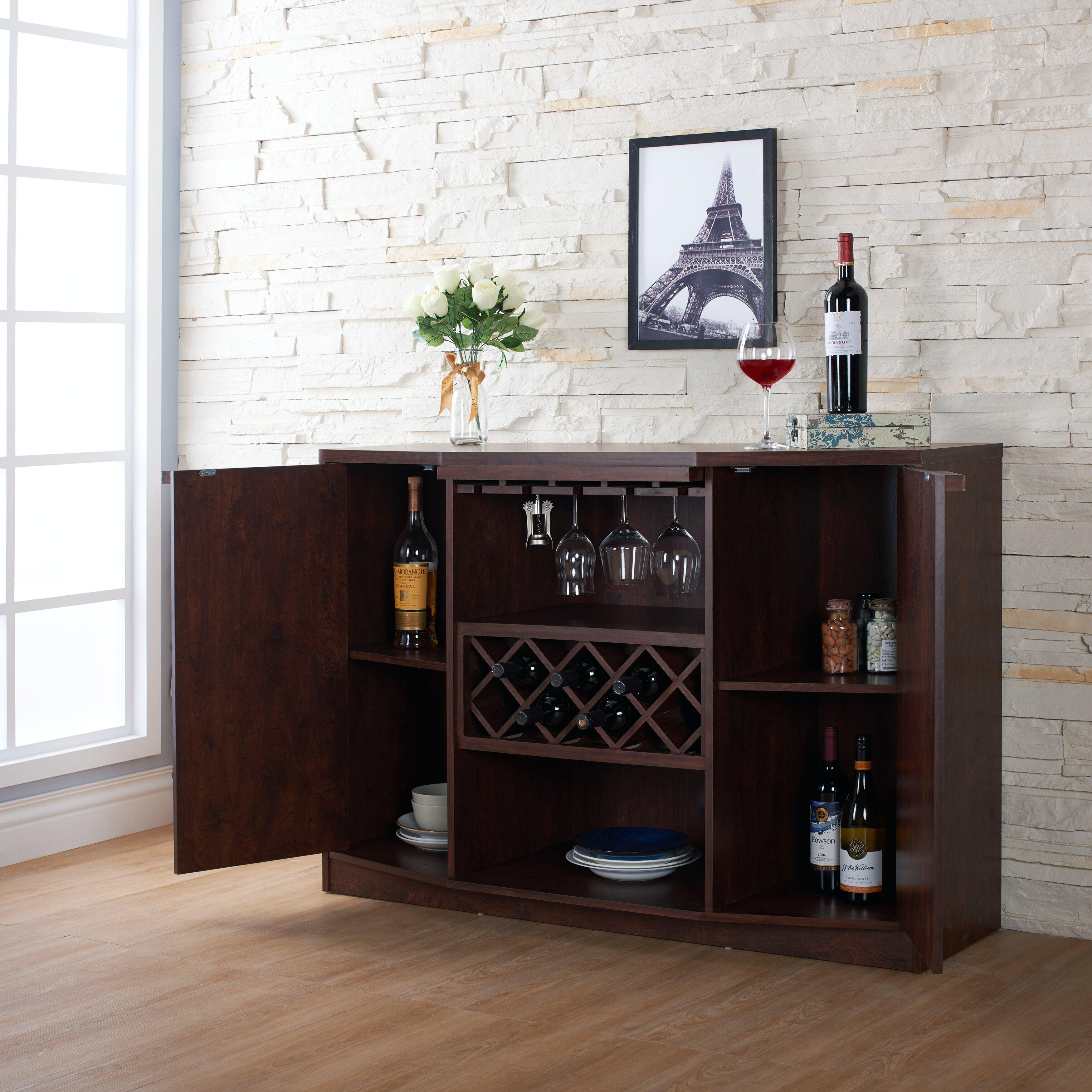 Wade Logan Xanthene Bar With Wine Storage Amp Reviews