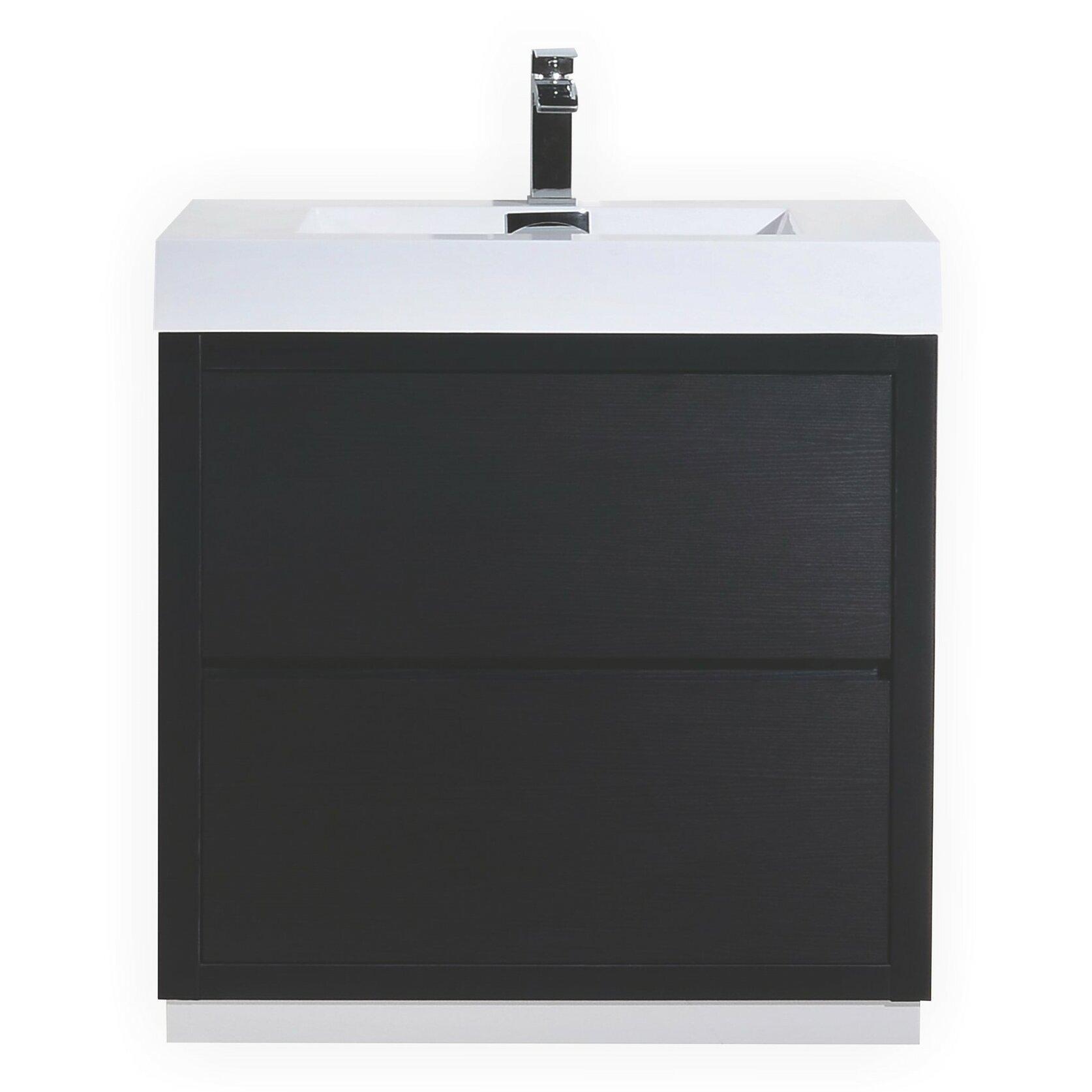 Wade logan tenafly 30 single free standing modern bathroom vanity set reviews - Kona modern bathroom vanity set ...