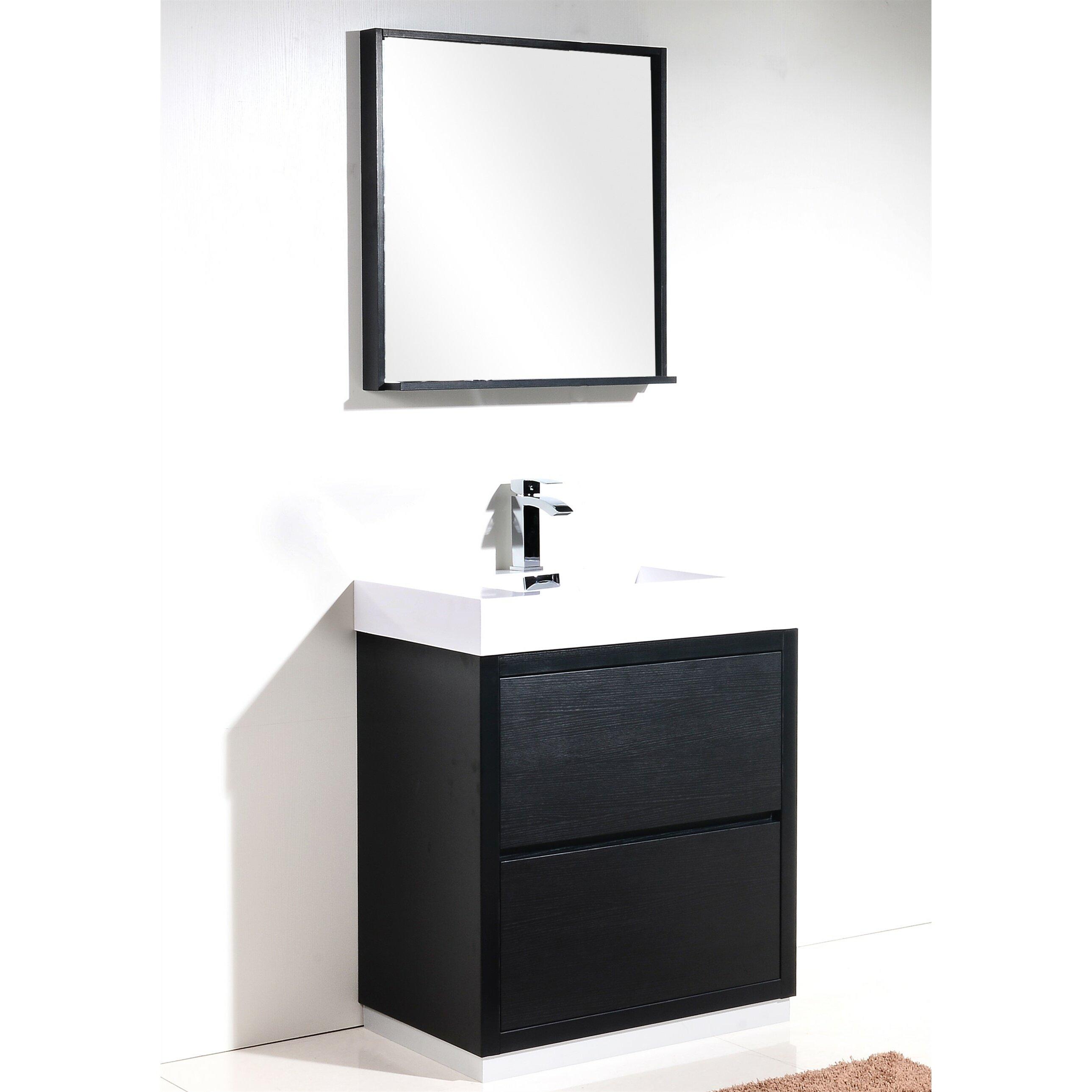Wade logan tenafly 30 single free standing modern bathroom vanity set reviews - Linden modern bathroom vanity set ...