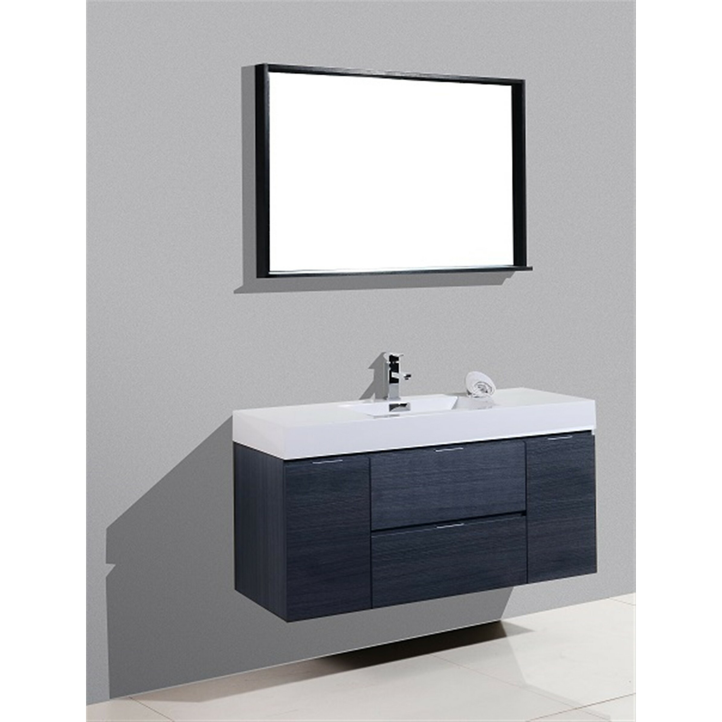 Bathroom Single Vanity Wade Logan Tenafly 48 Single Wall Mount Modern Bathroom Vanity