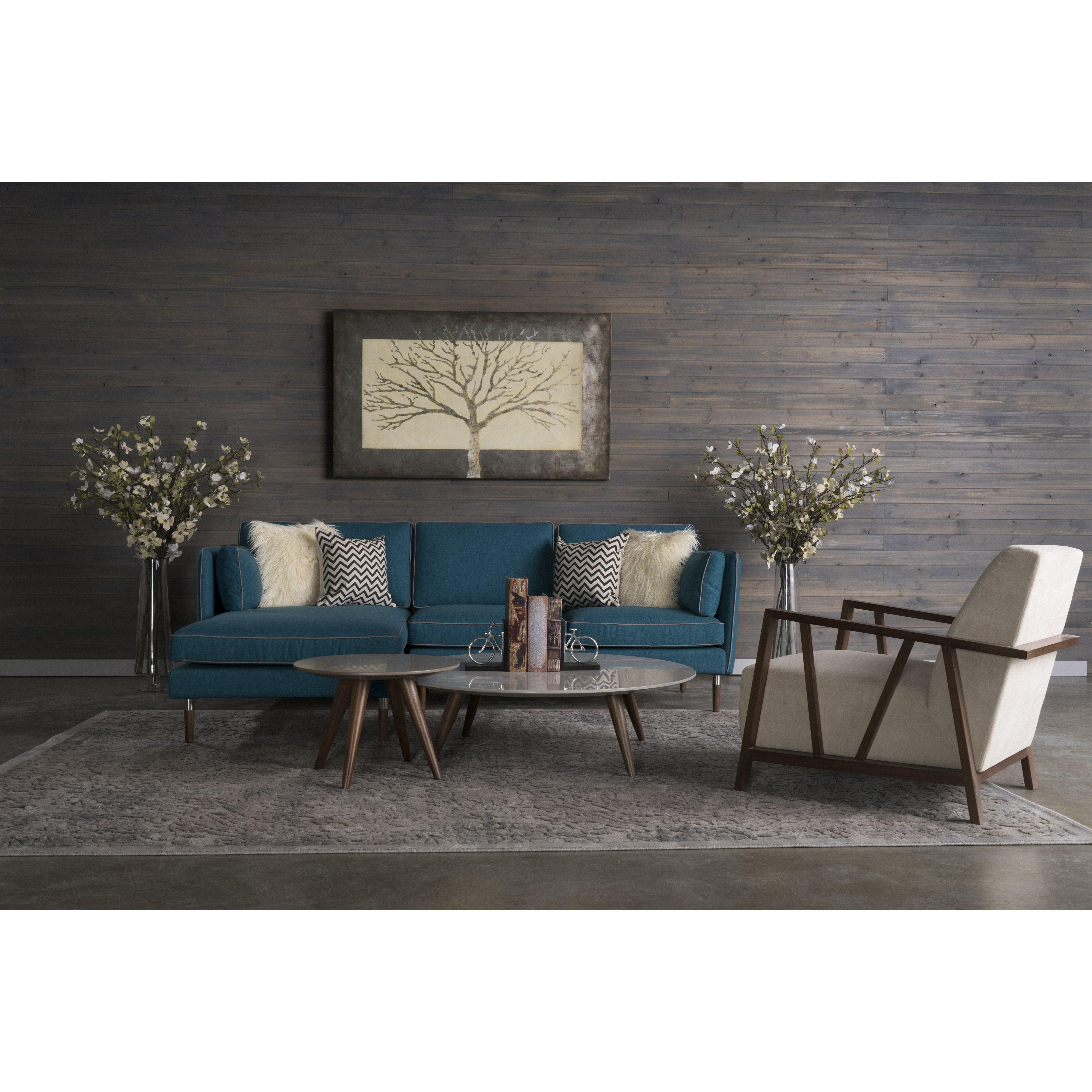 Corrigan studio shelburne 4 piece living room set