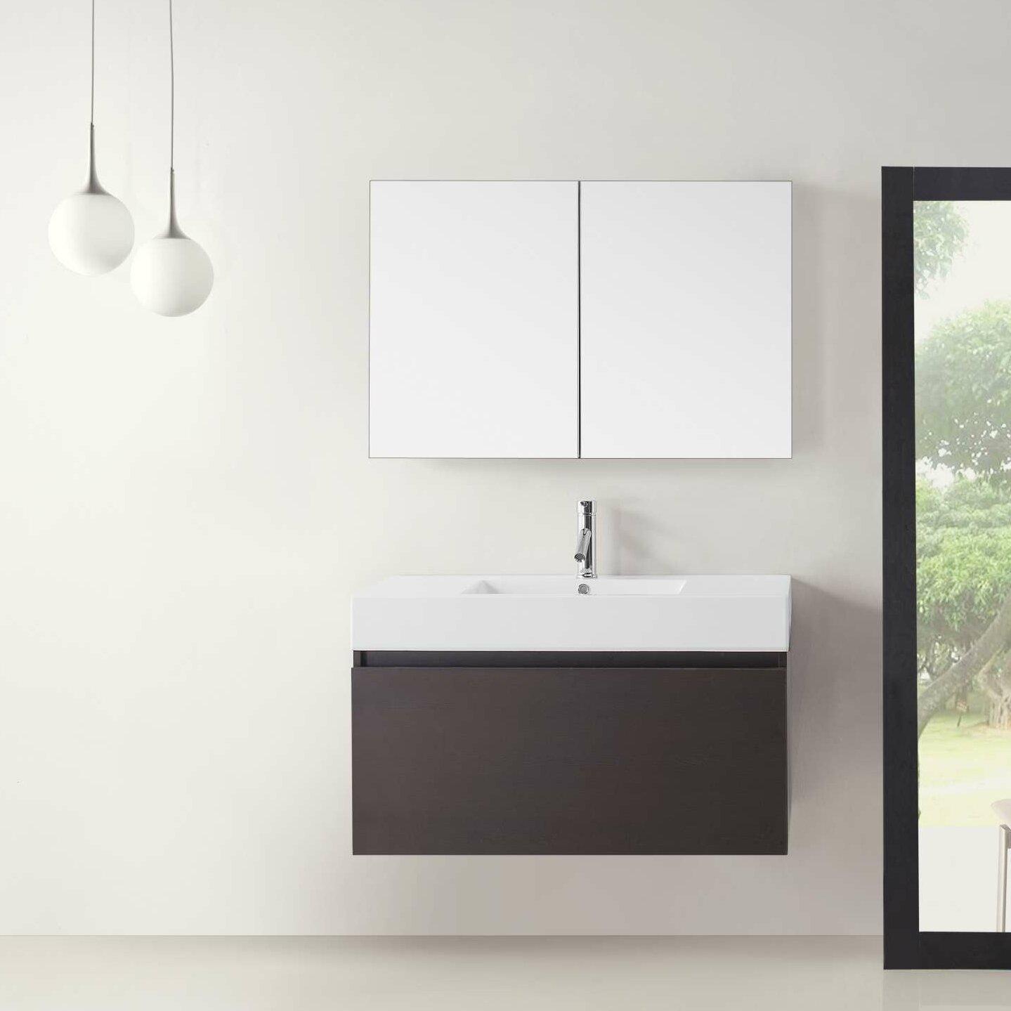 39 Bathroom Vanity Corrigan Studio Baron 39 Single Bathroom Vanity Set With White