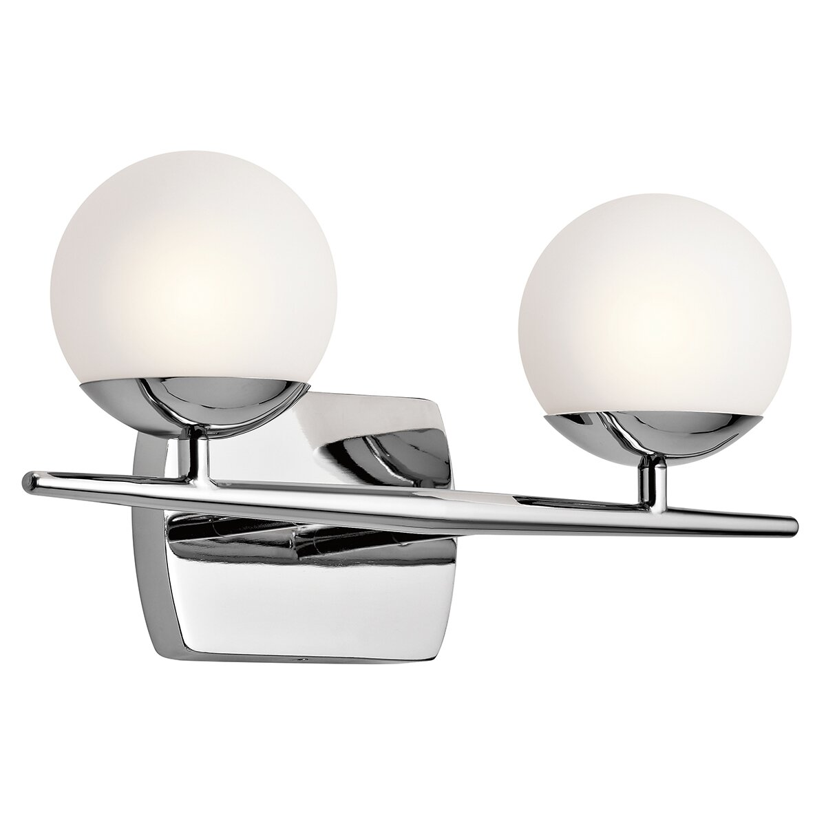 Bathroom vanity lights brushed nickel - Griffe 2 Light Vanity Light
