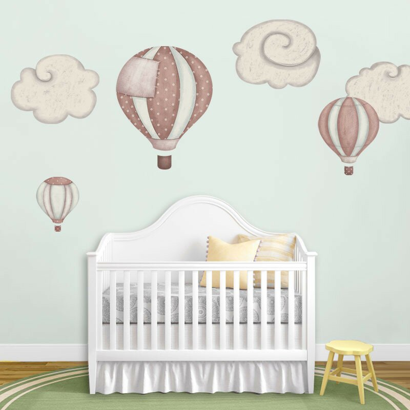 My Wonderful Walls Hot Air Balloons and Cloud Wall Stickers