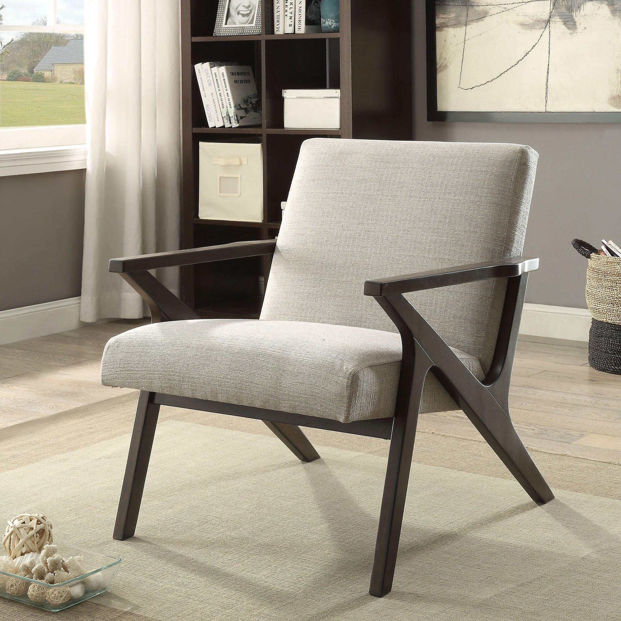Nspire Upholstered Accent Arm Chair Amp Reviews Wayfair Ca