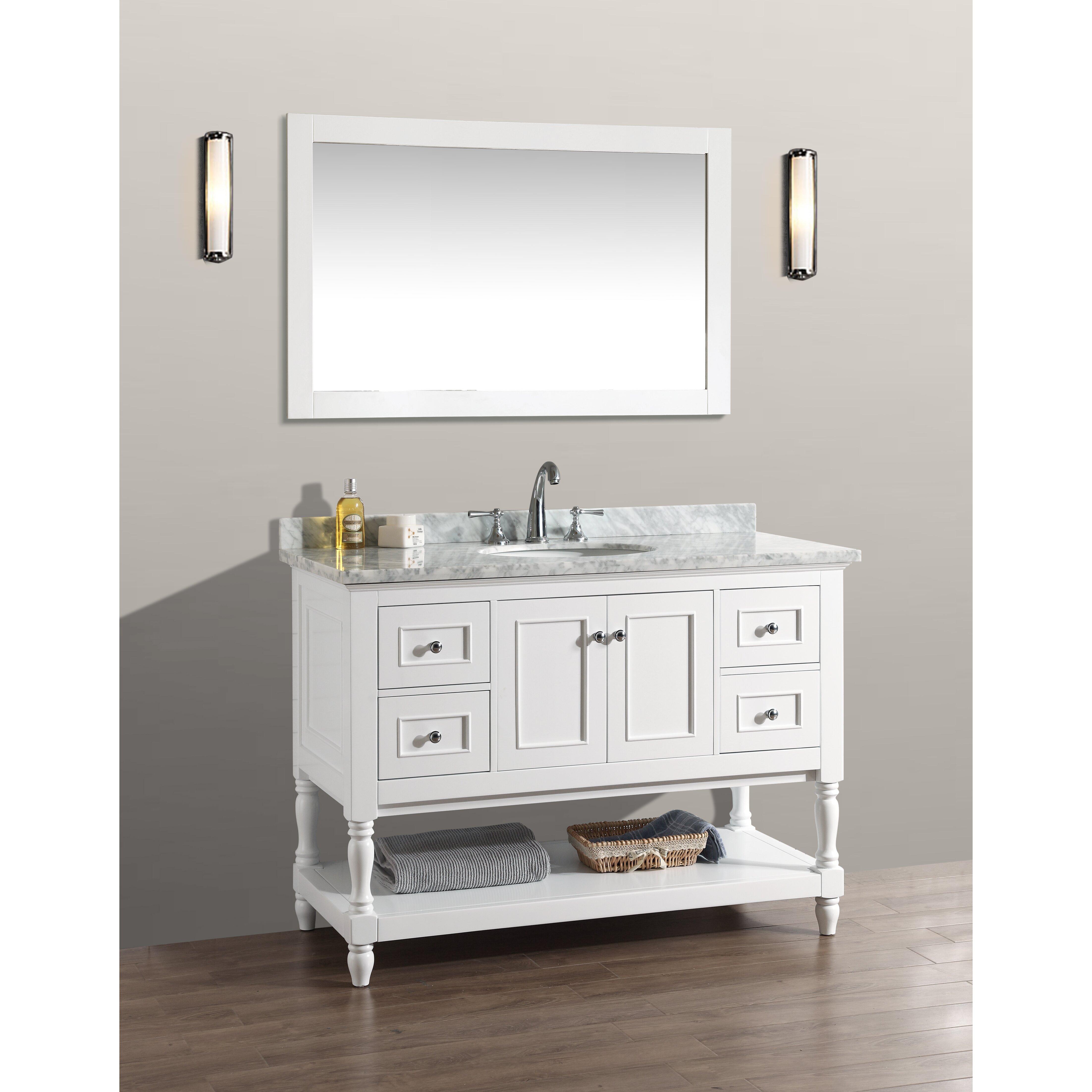Ari Kitchen  amp  Bath Cape Cod 48 quot  Single Bathroom Vanity Set. Ari Kitchen   Bath Cape Cod 48  Single Bathroom Vanity Set with