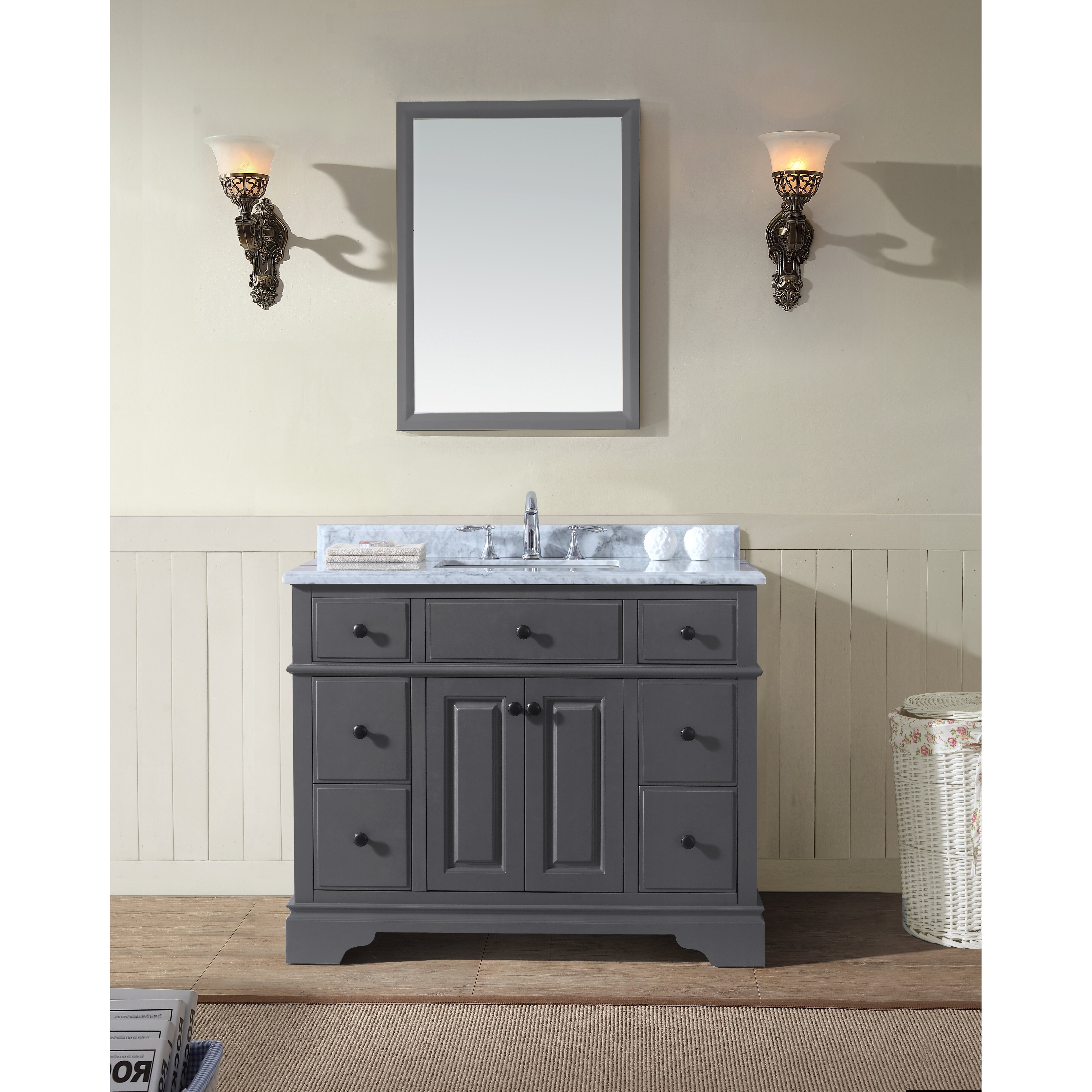 42 Bathroom Vanity Ari Kitchen Bath Chela 42 Single Bathroom Vanity Set Reviews