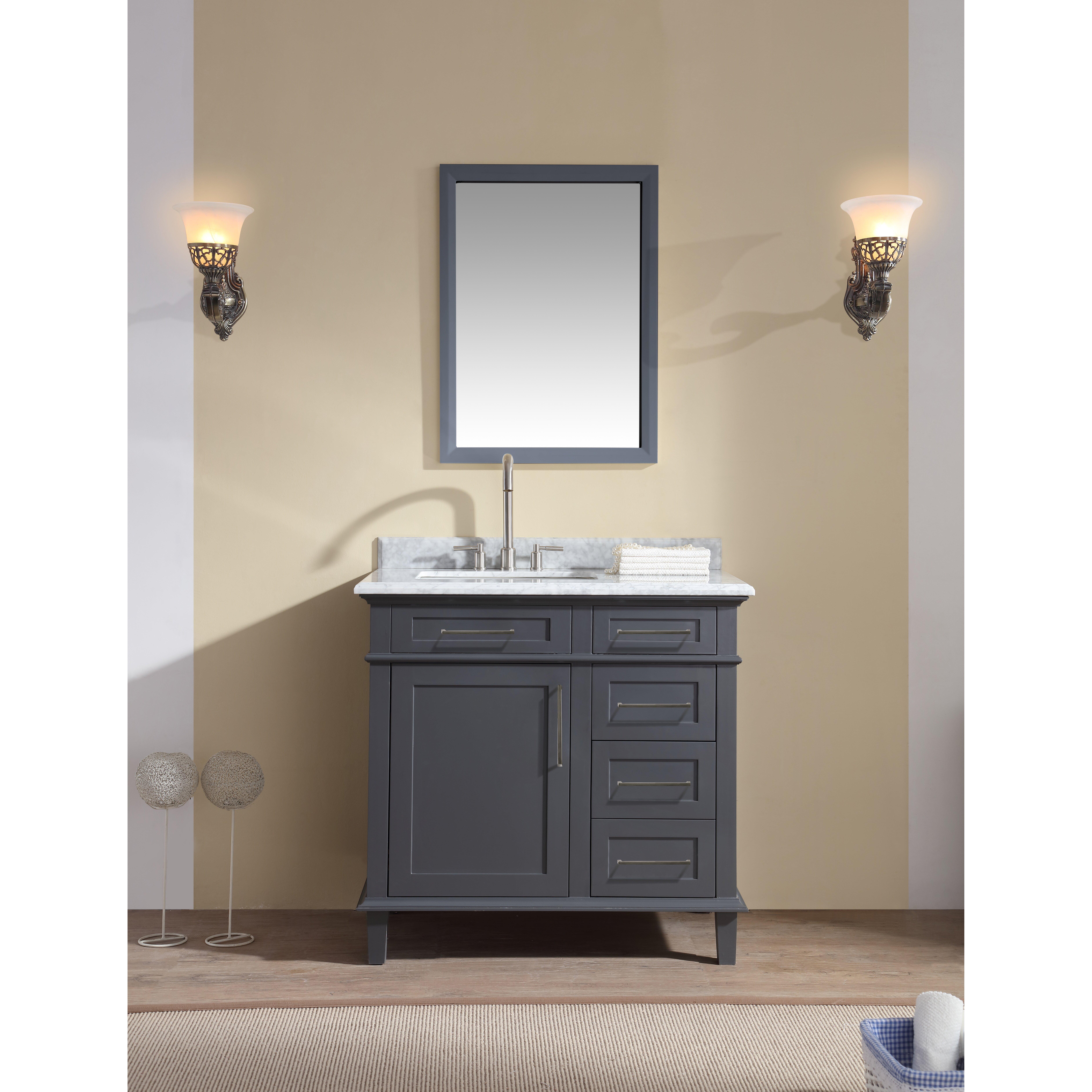 "Ari Kitchen & Bath Newport 36"" Single Bathroom Vanity Set ..."