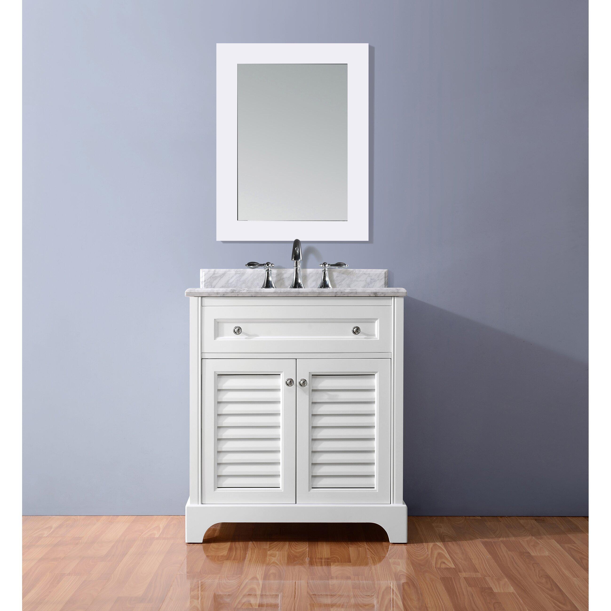 Wyndenhall salem 36 inch white quartz marble top single sink bathroom - Ari Kitchen Bath Madison 36 Single Bathroom Vanity Set