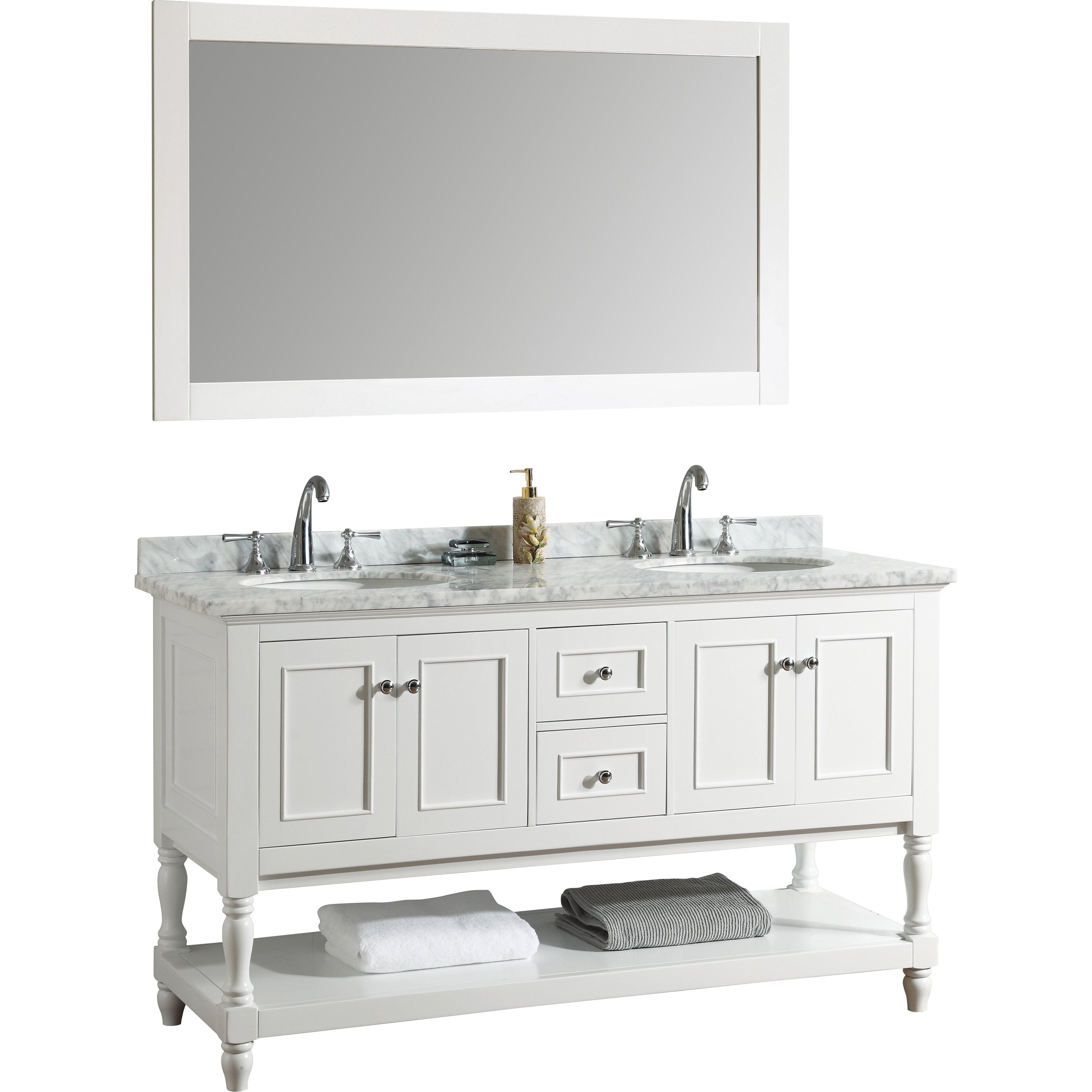 Palazzo 60-Inch Double Bathroom Vanity palazzo 60 inch bathroom vanity