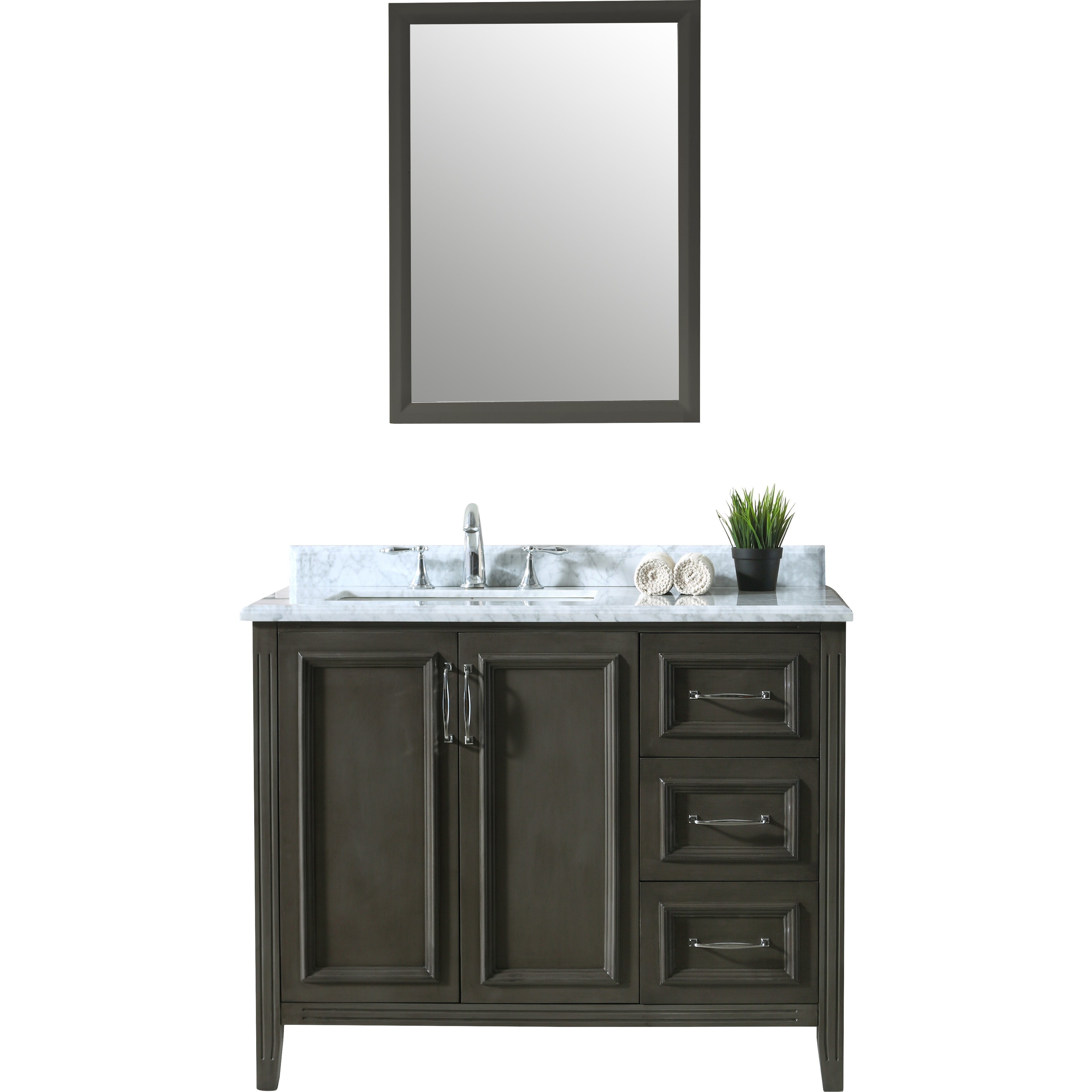"Ari Kitchen & Bath Jude 42"" Single Bathroom Vanity Set & Reviews"