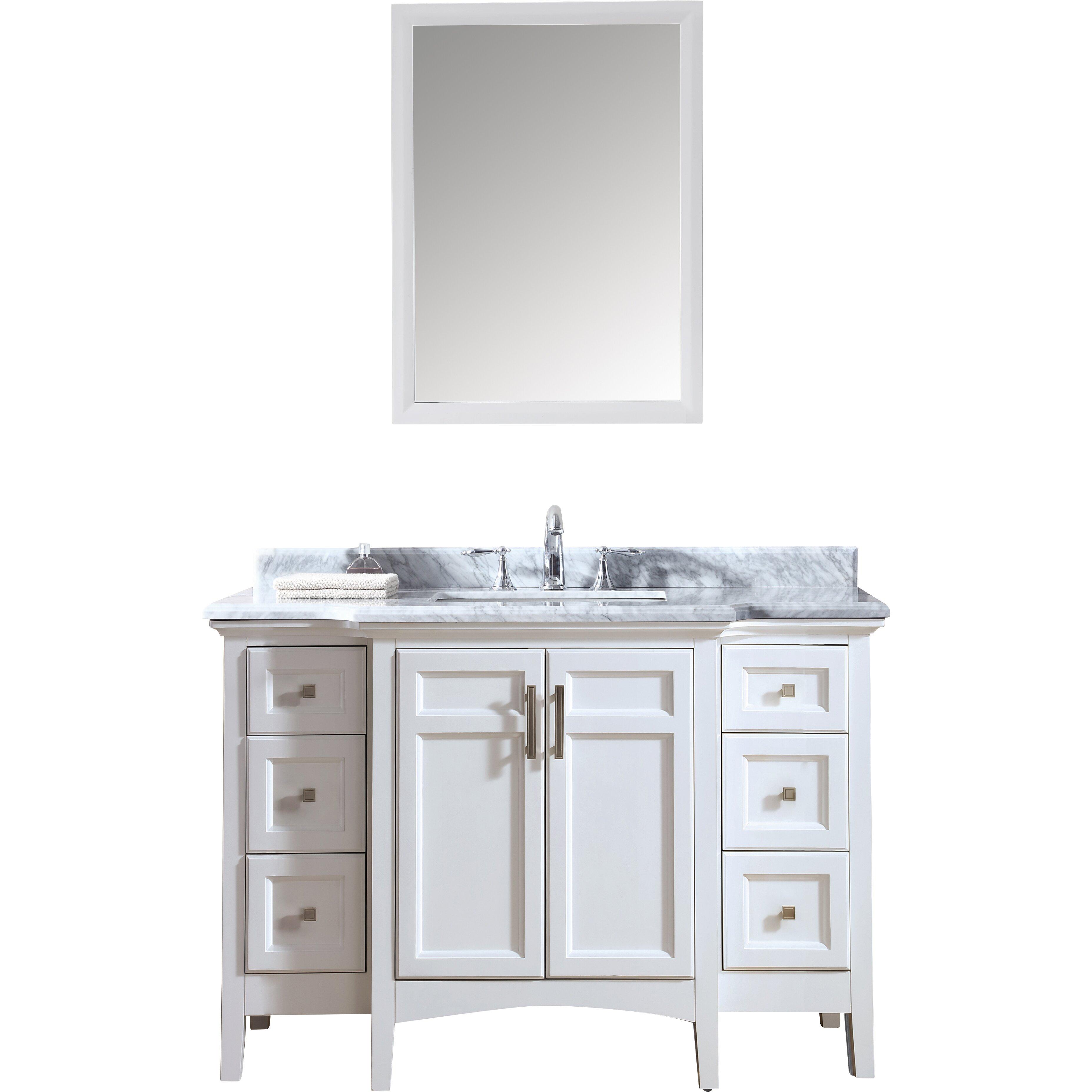 Bathroom Vanity Set Ari Kitchen Bath Luz 48 Single Bathroom Vanity Set Reviews