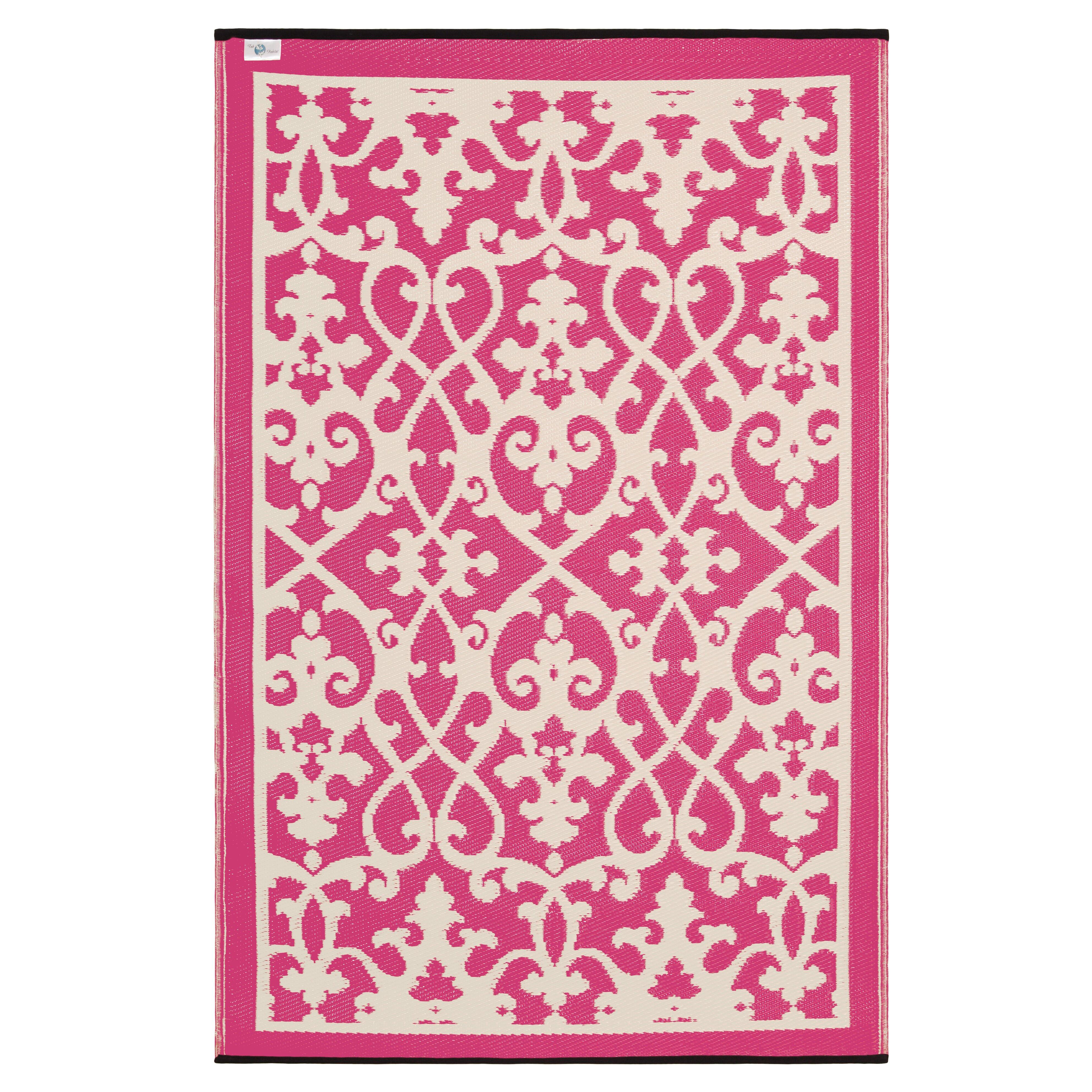 Julianne Venice Cream Amp Pink Indoor Outdoor Area Rug