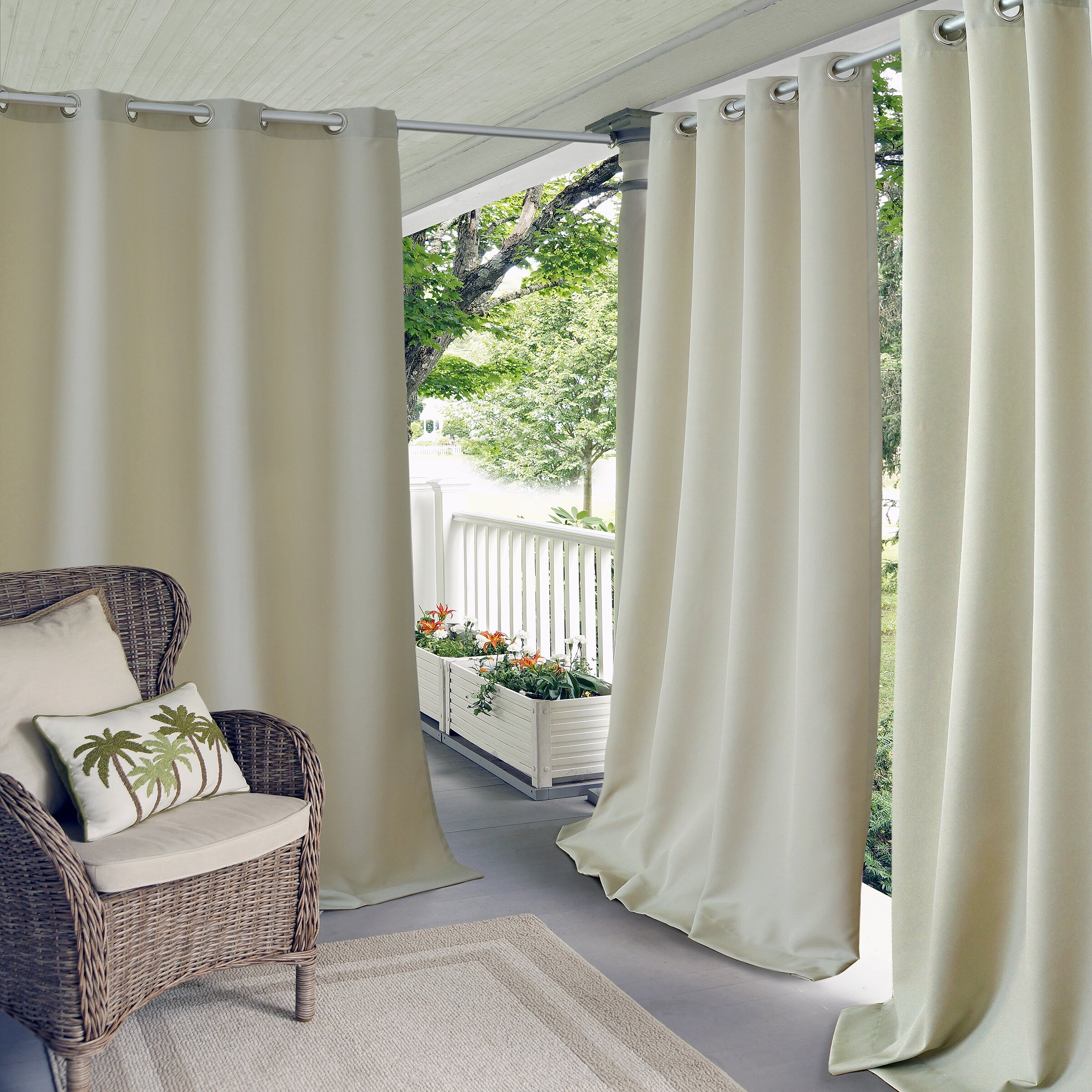 Striped outdoor curtains - Quick View Connor Indoor Outdoor Curtain Panel