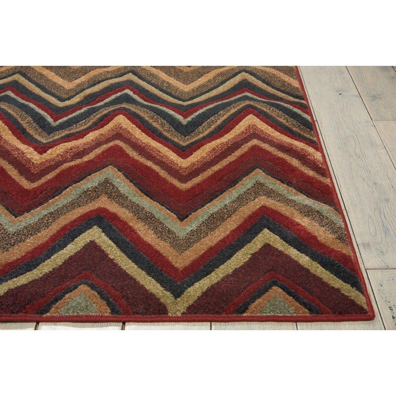 nourison vogue red brown grey area rug reviews. Black Bedroom Furniture Sets. Home Design Ideas