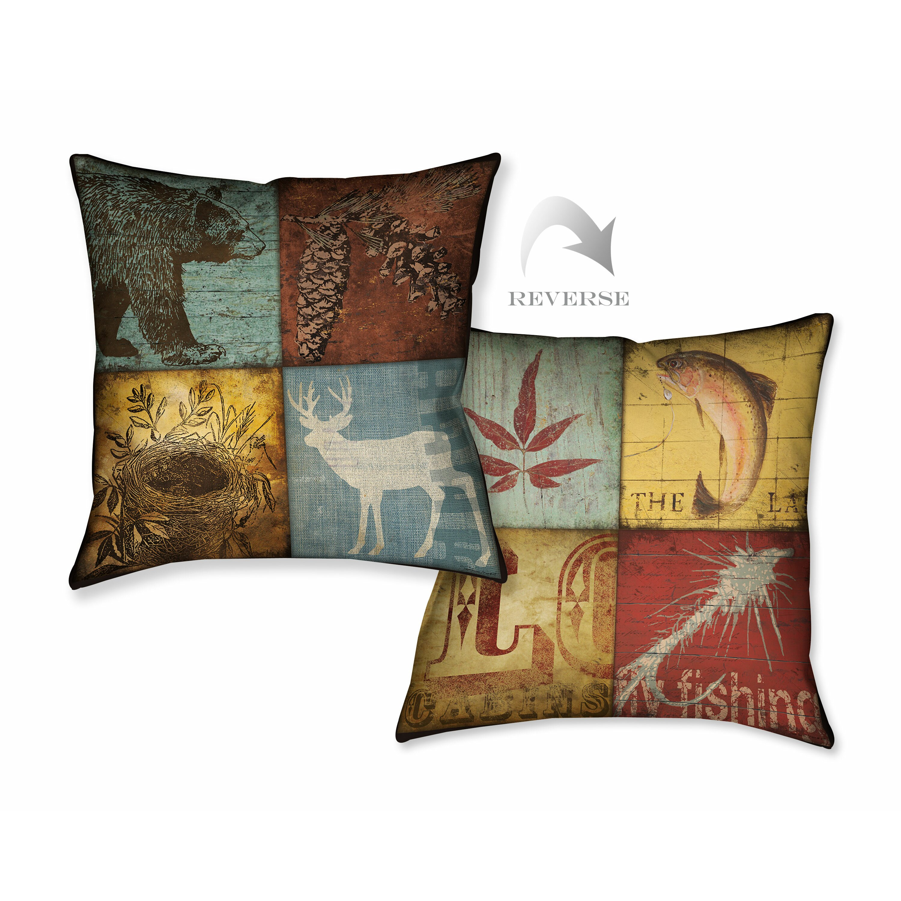 Throw Pillows Meaning : LauralHome Lodge 4 Patch Throw Pillow & Reviews Wayfair