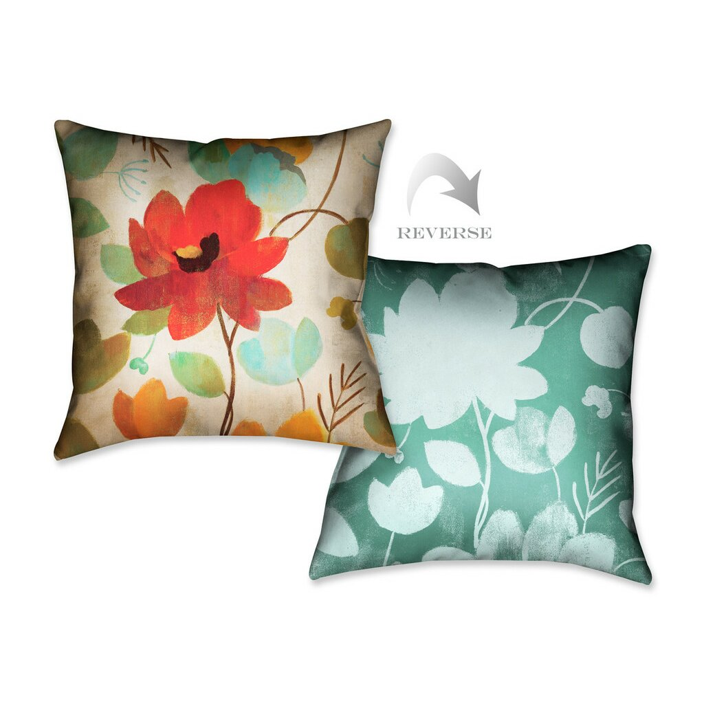 LauralHome Vibrant Embroidery II Throw Pillow Wayfair