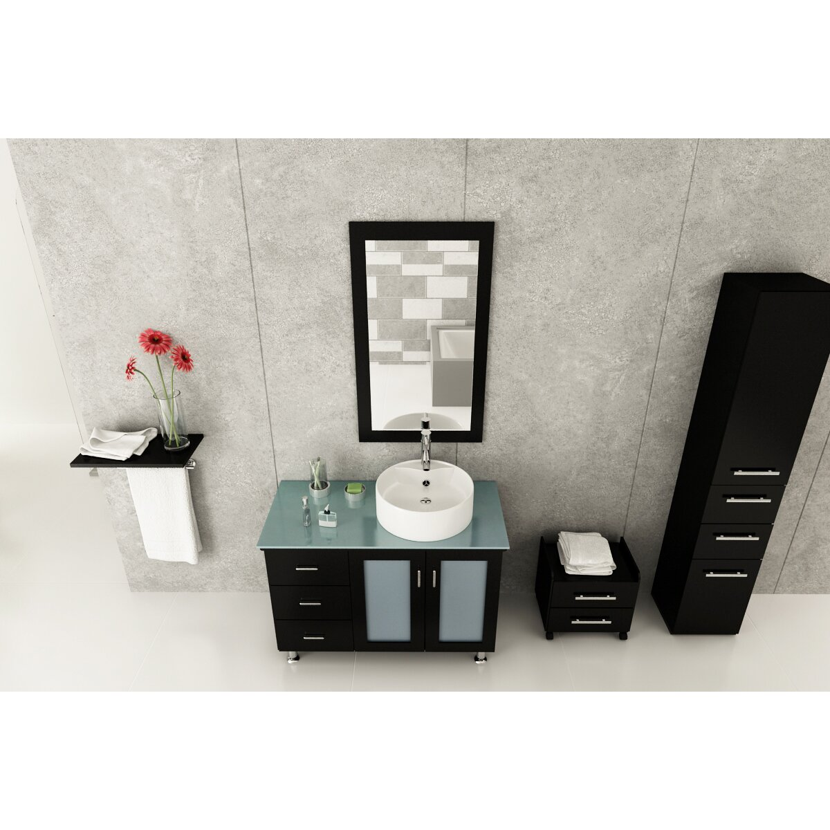 39 Bathroom Vanity Jwh Living Lune 39 Single Vessel Modern Bathroom Vanity Set Wayfair