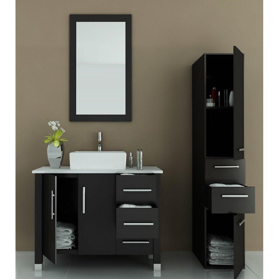 "Modern Bathrooms Setting Ideas: JWH Living Crater 39.5"" Single Modern Bathroom Vanity Set"