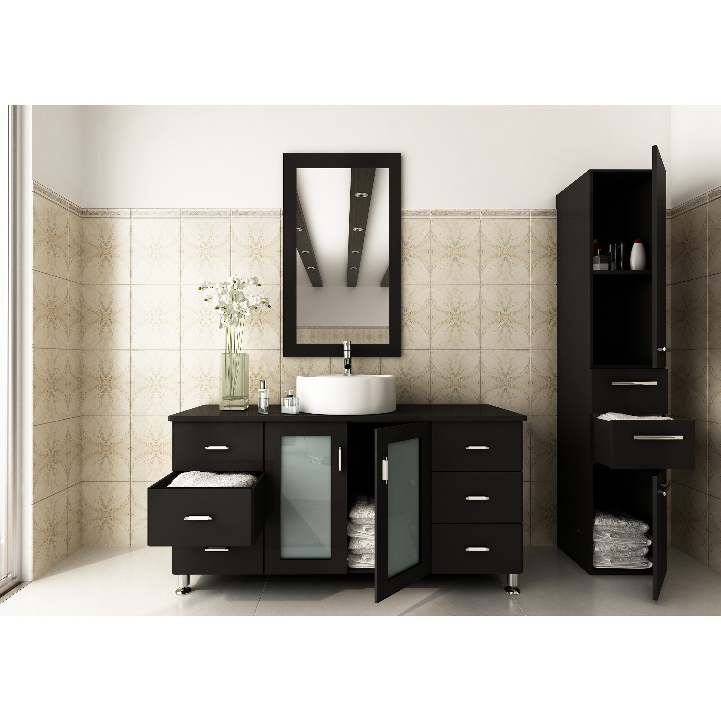 jwh living 47 single grand lune bathroom vanity set reviews