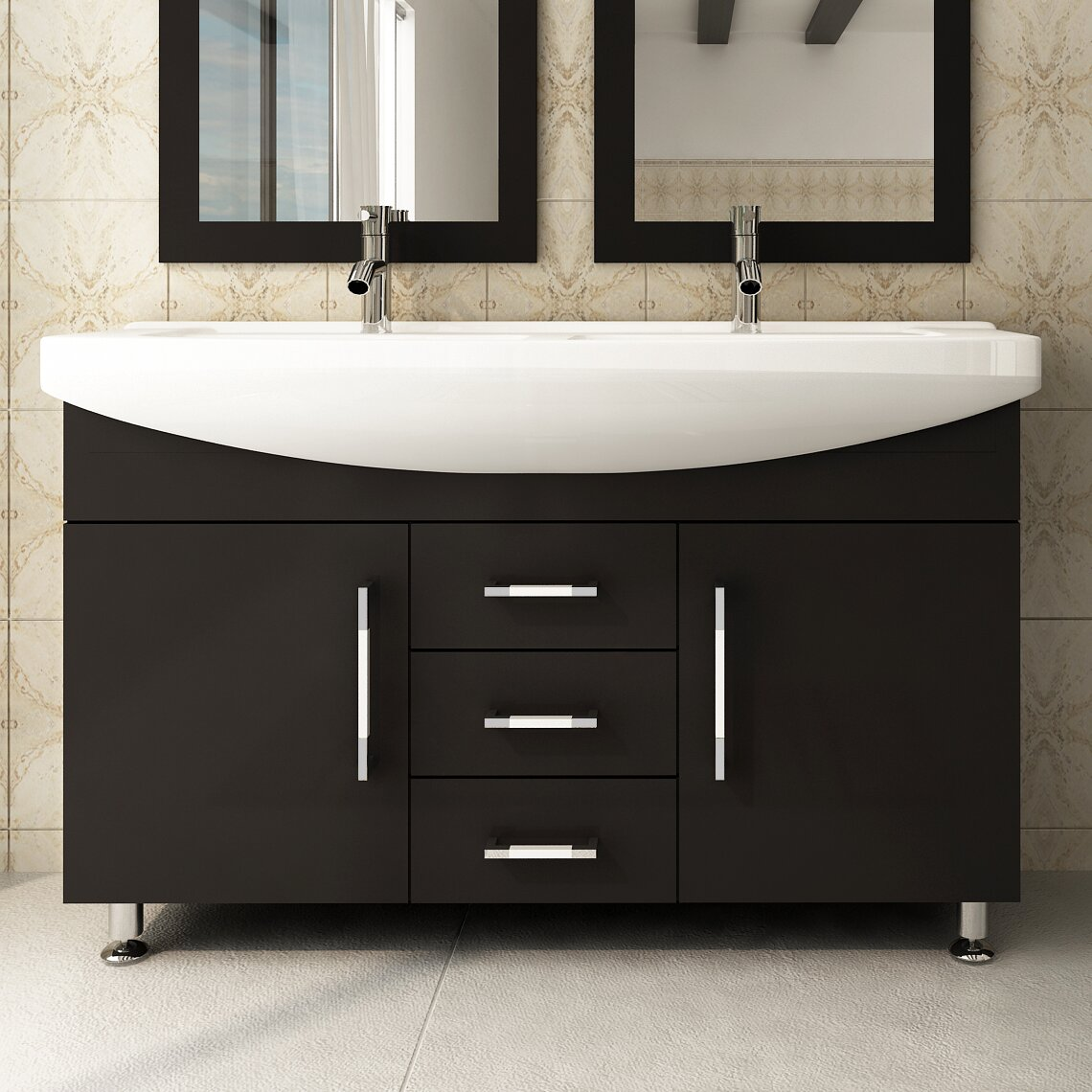 Twin Bathroom Sinks : Celine 48