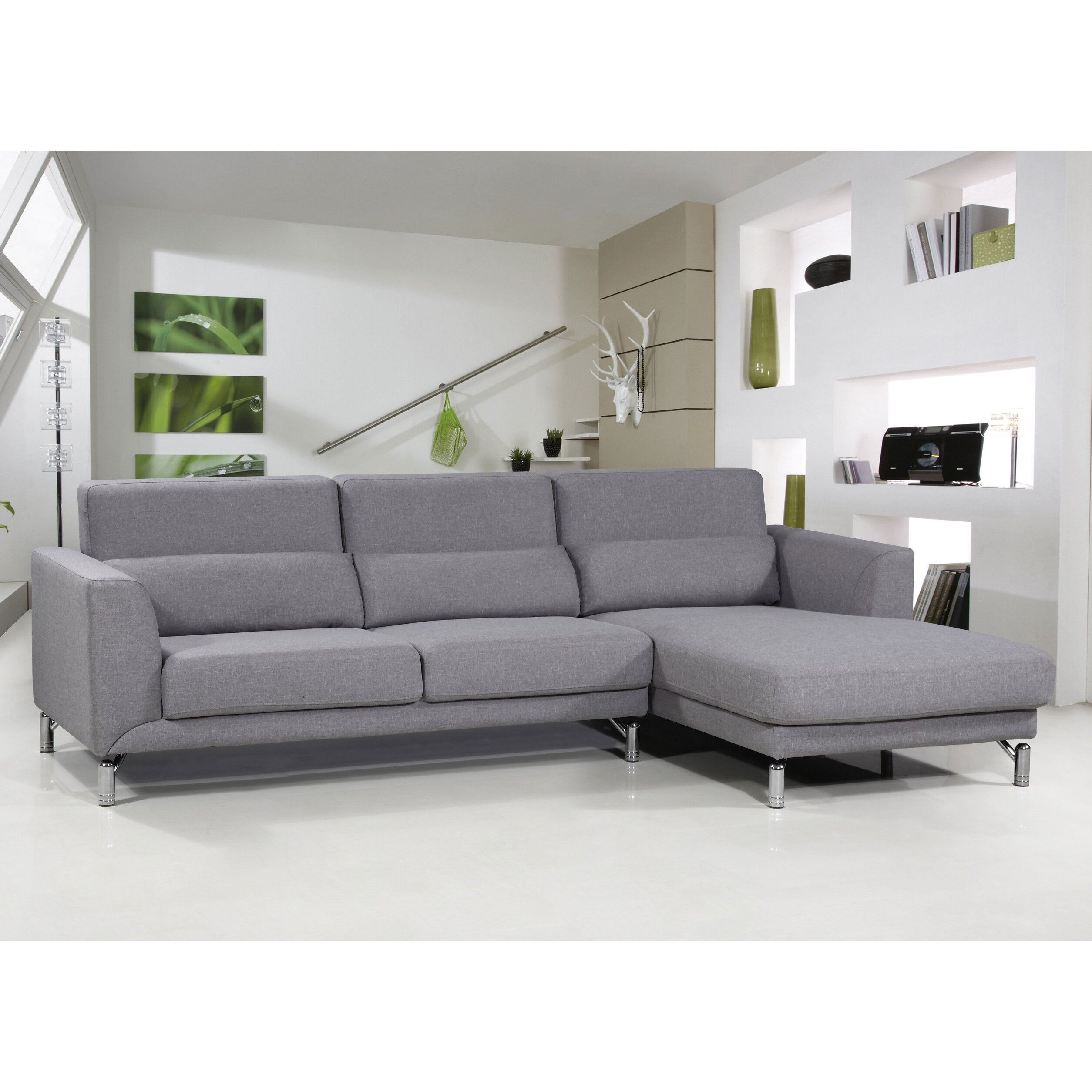 Vegas 2 Pc Microfiber Sectional Sofa – Hereo Sofa