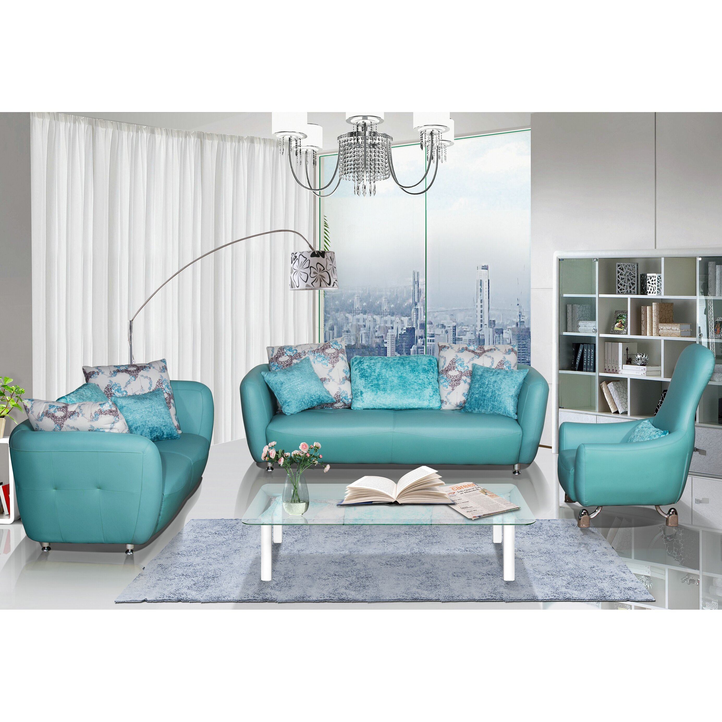 Container 3 Piece Leather Living Room Set & Reviews  Wayfair