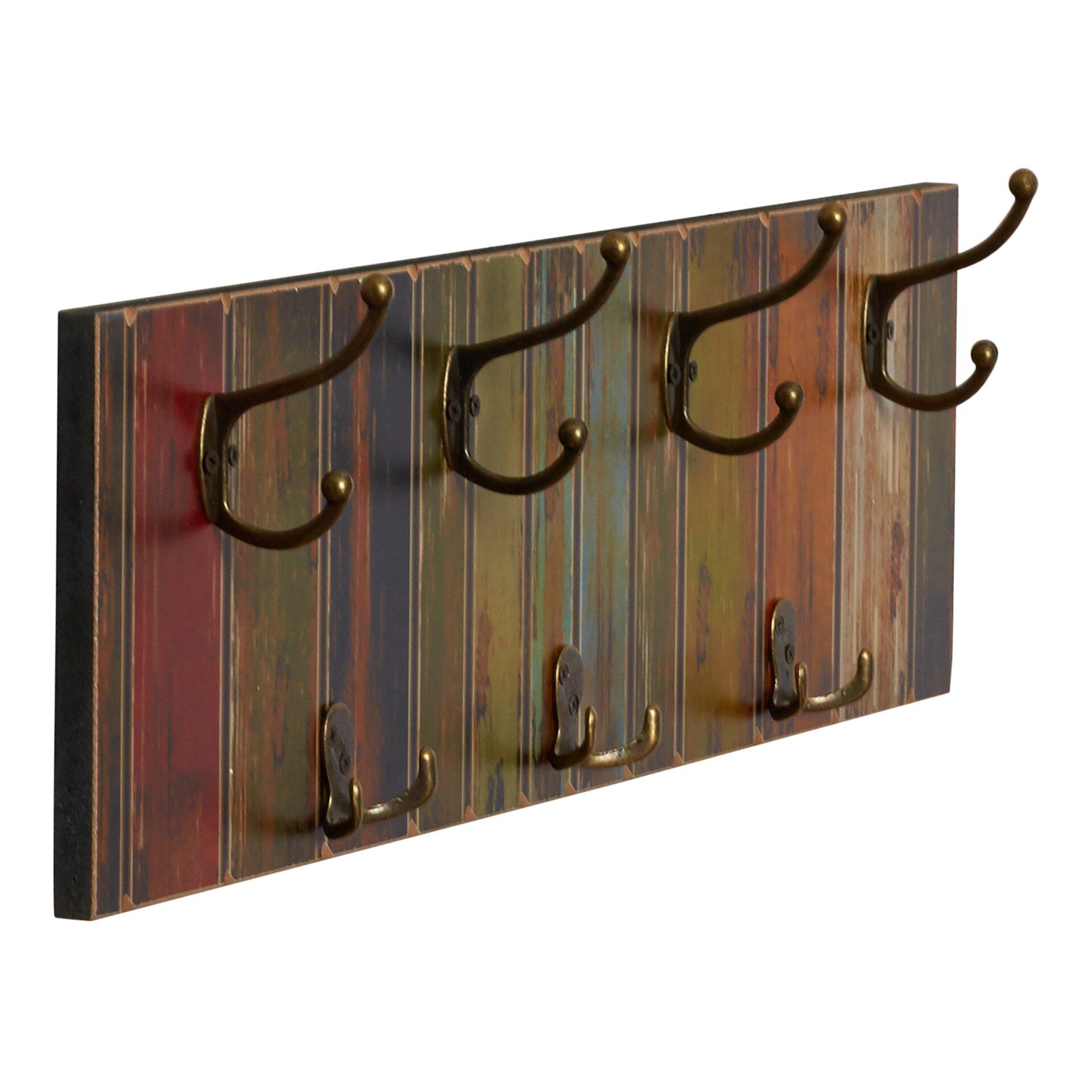 august grove freida 7 hook wall mounted coat rack reviews. Black Bedroom Furniture Sets. Home Design Ideas