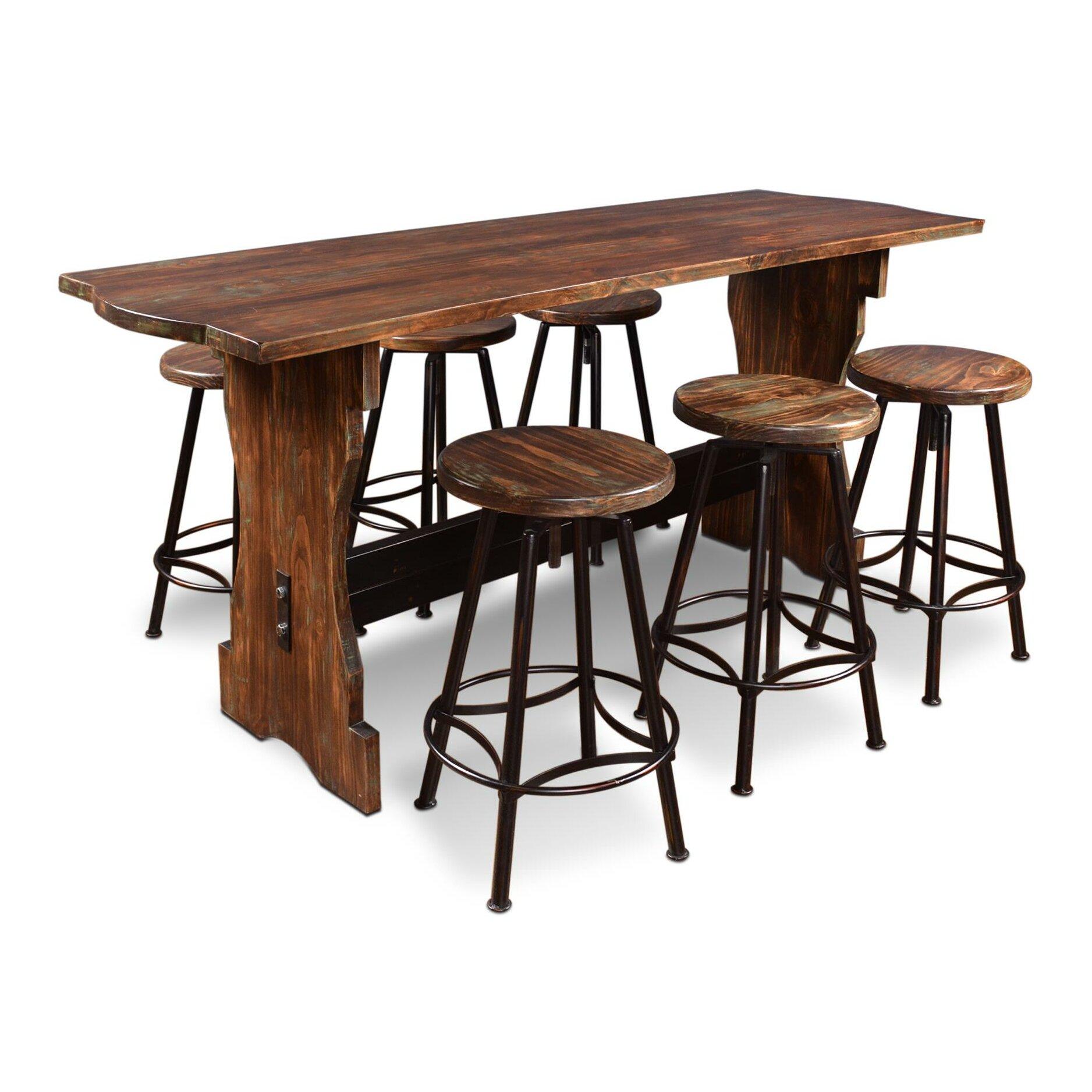 Contemporary Pub Table Set Rectangle Pub Tables Bistro Sets Youll Love Wayfair