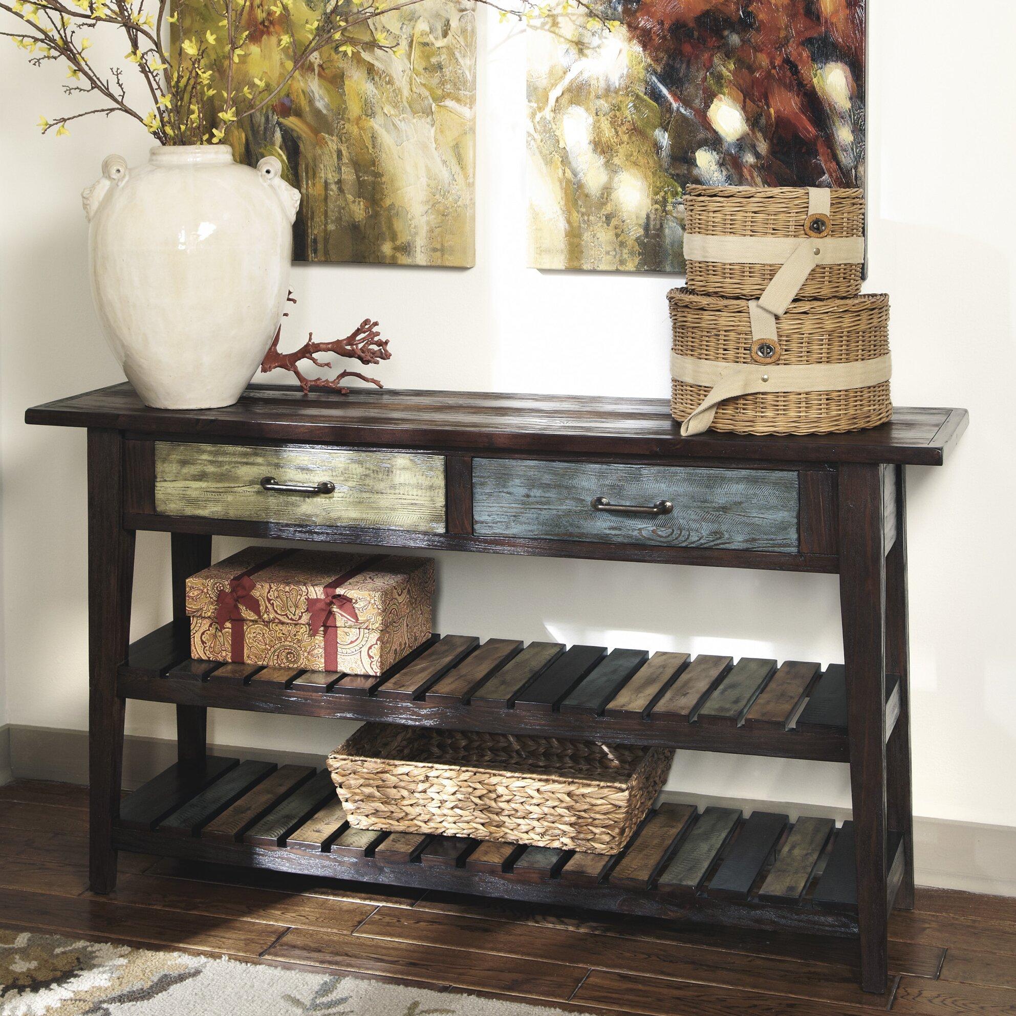 Wayfair sofa table centerfieldbar console sofa entryway tables you ll love wayfair geotapseo Image collections