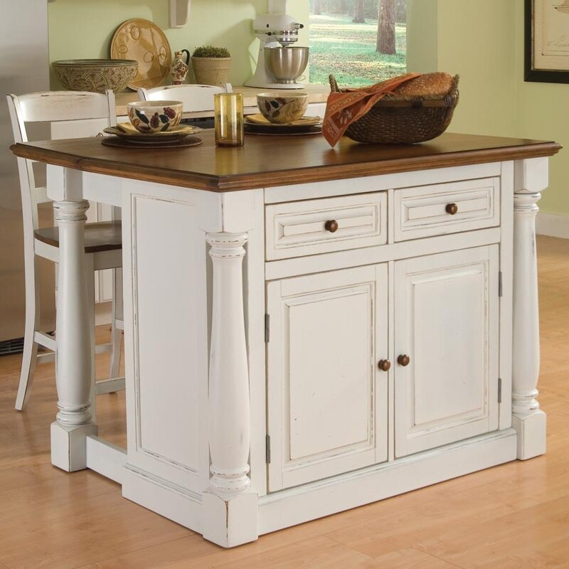 amazing Wayfair Kitchen Island #2: August Groveu0026reg; Shyanne 3 Piece Kitchen Island Set