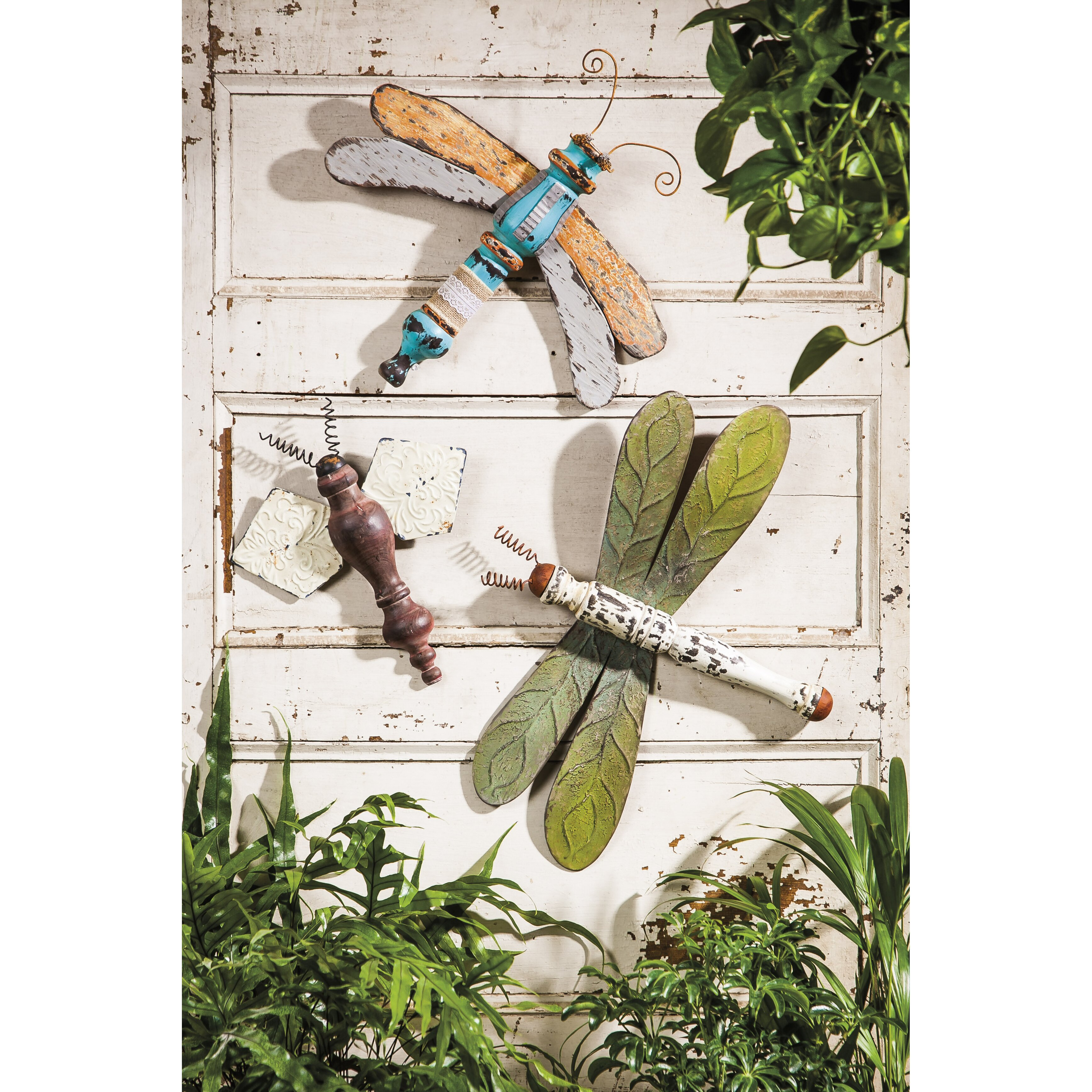 Dragonflies Wall Decor August Grove 3 Piece Dragonflies And Bee Wall Dccor Set Reviews