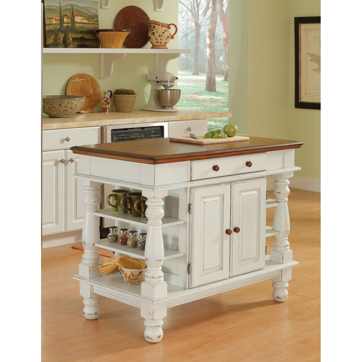 delightful Wayfair Kitchen Island #7: August Groveu0026reg; Collette Kitchen Island