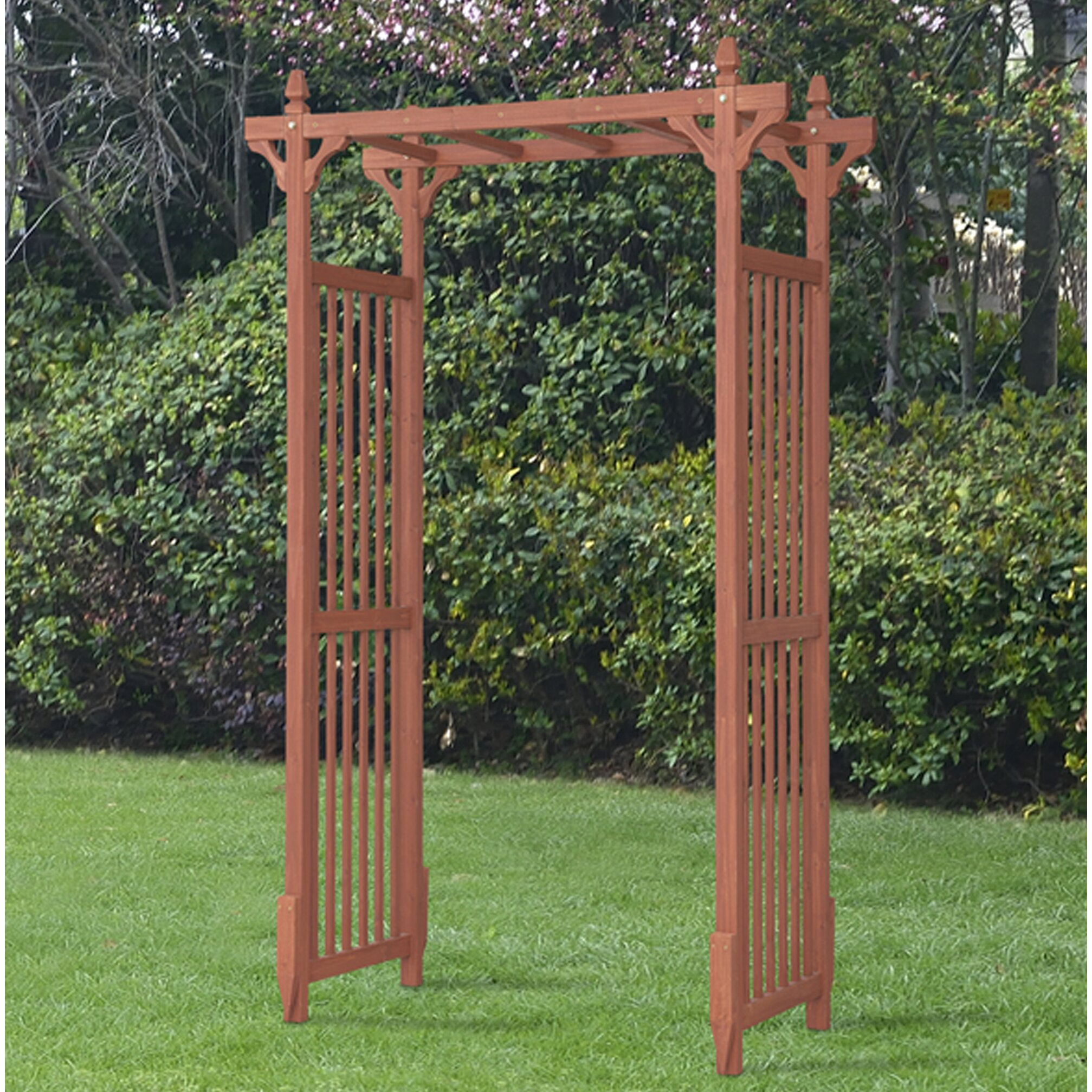 August Grove Selina Wood Arbour Reviews