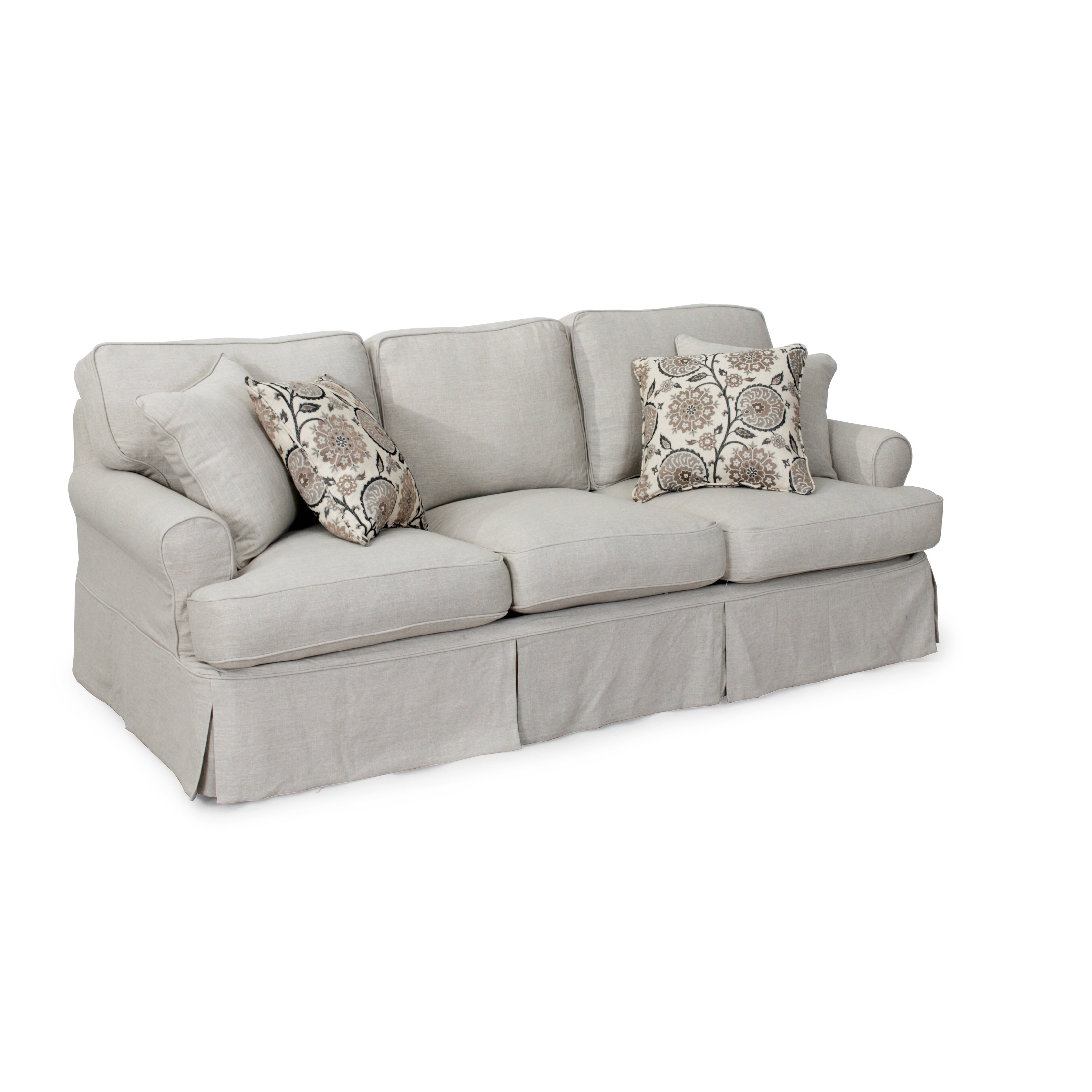 Three Cushion Sofa Slipcover Bedroom More Sonoma 3 Cushion Slip