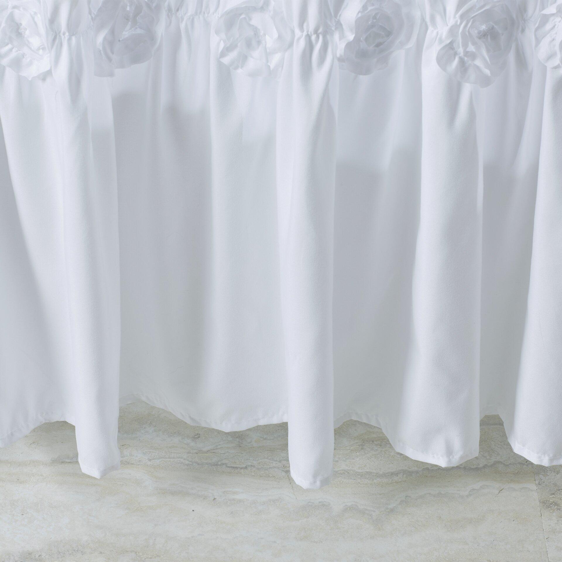 One Allium Way Victoria Lily Shower Curtain  Reviews Wayfair - Shower curtain