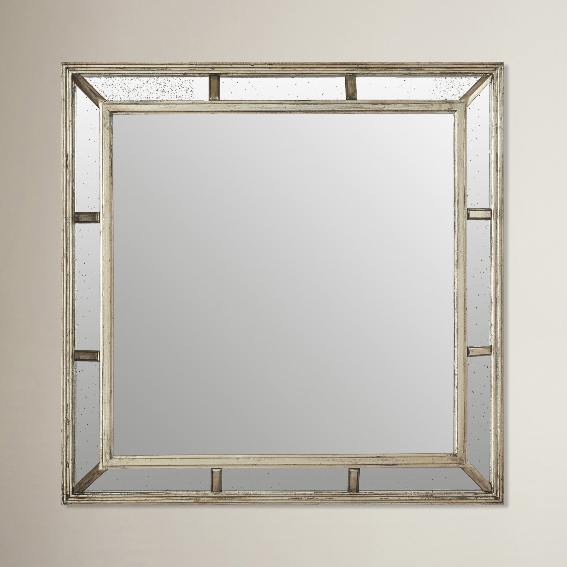 one allium way wibaux wood framed wall mirror