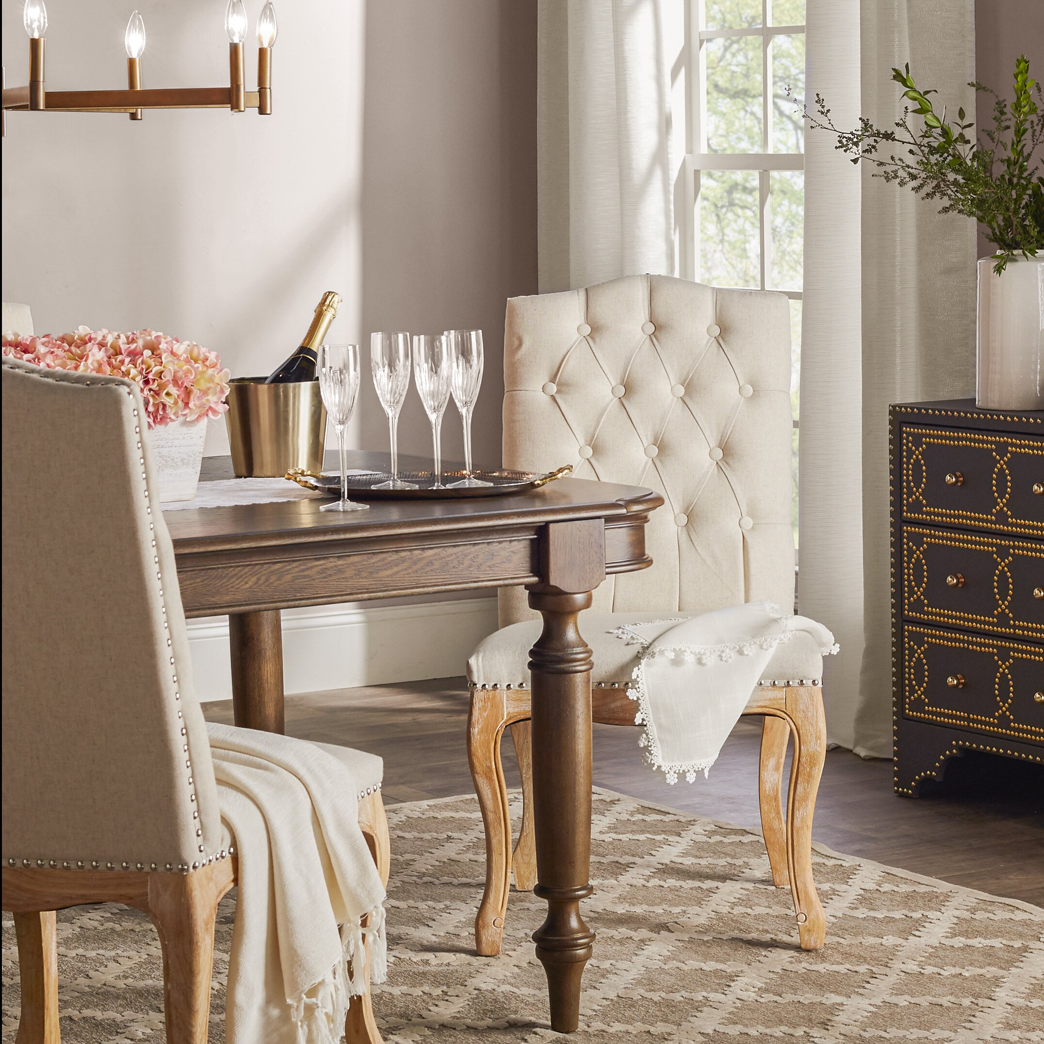 one allium wayu0026reg enya tufted side chair - Side Chairs For Living Room