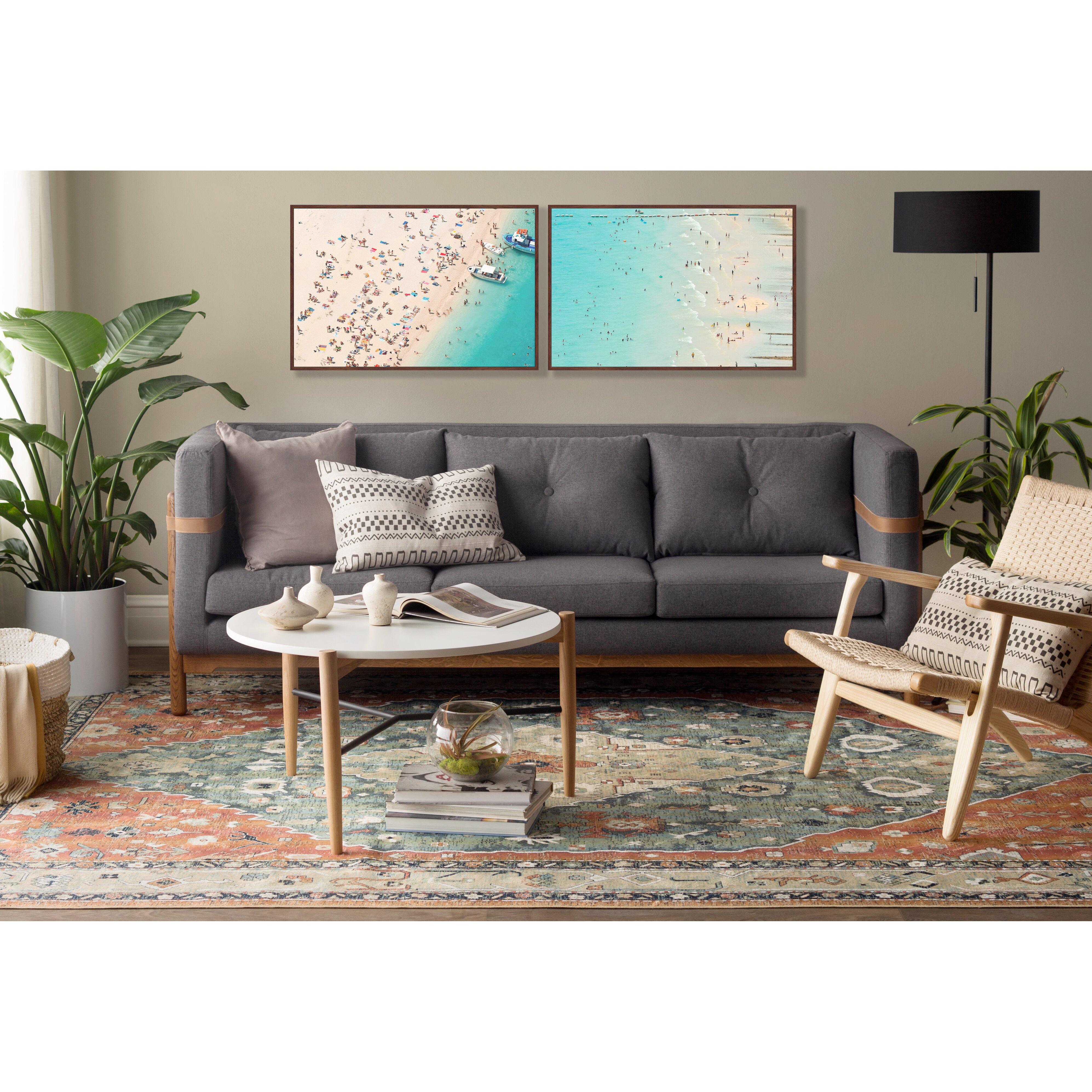 Abacasa Sonoma Aqua Celadon Rust Tan Area Rug Amp Reviews