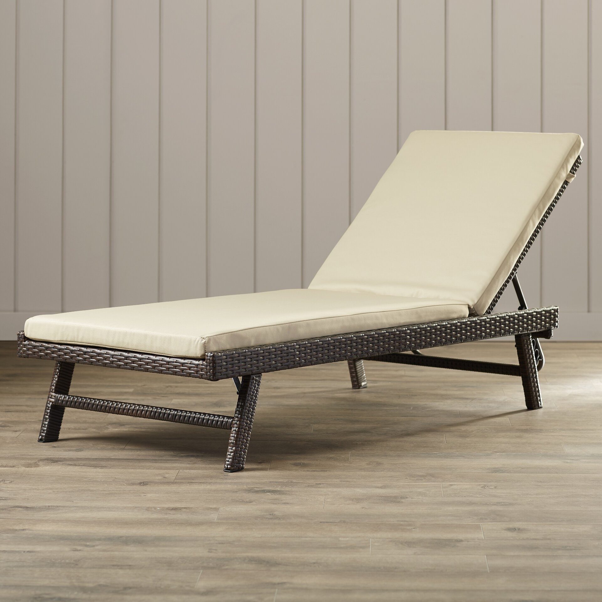 Beachcrest home calypso chaise lounge with cushion for 3 in 1 beach chaise lounge