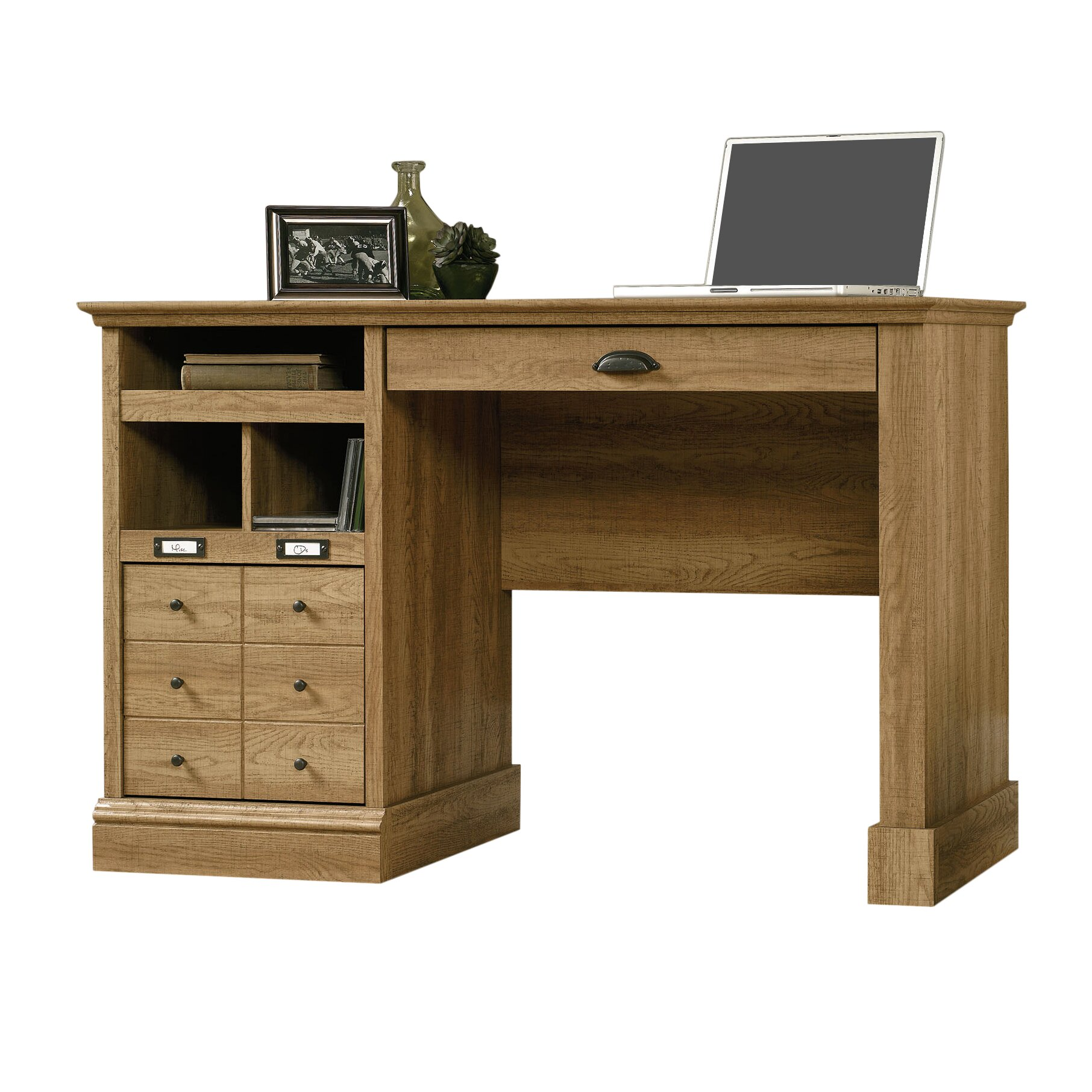 beachcrest home bowerbank computer desk with 2 storage drawers reviews wayfair. Black Bedroom Furniture Sets. Home Design Ideas