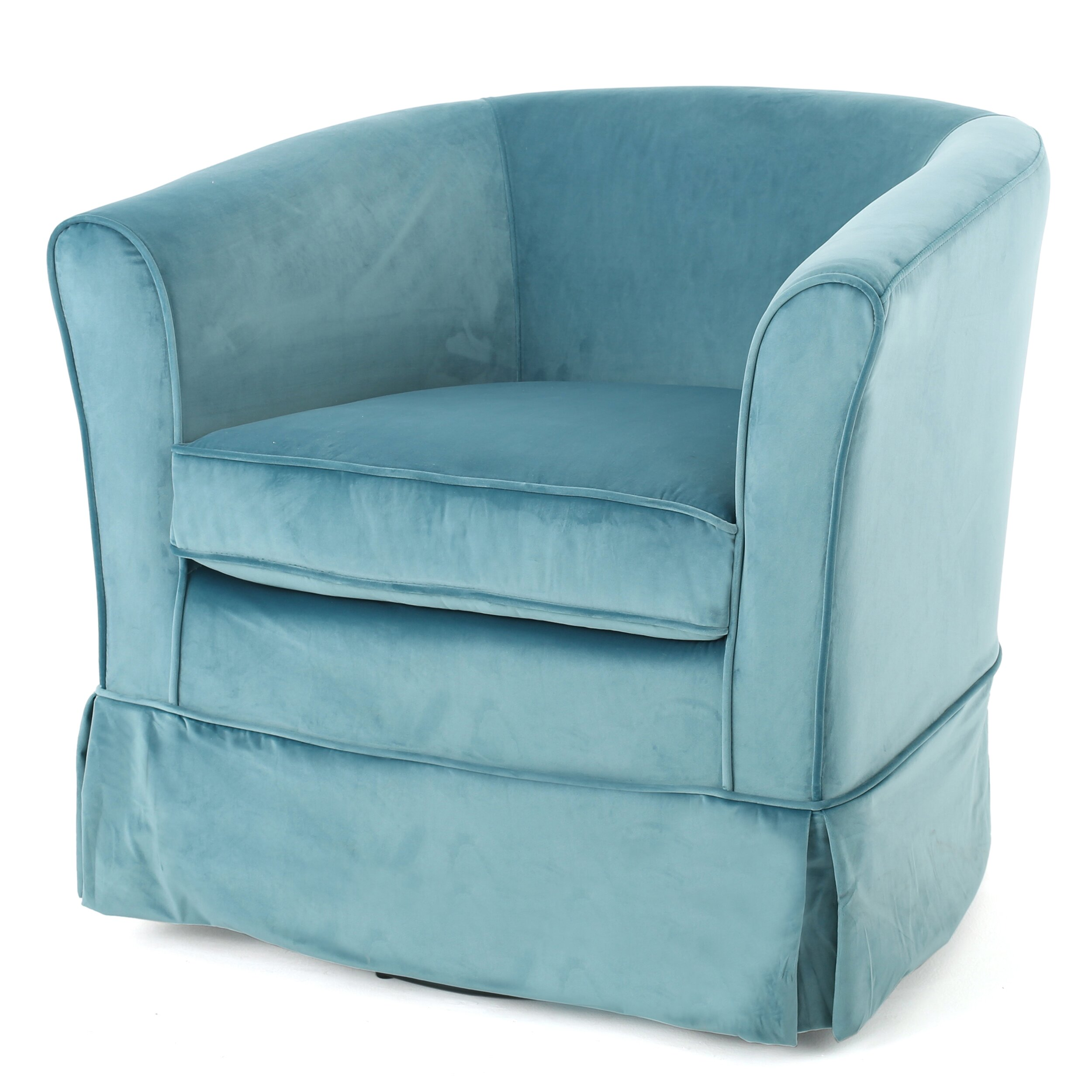 Beachcrest Home Lowell Swivel Barrel Chair & Reviews | Wayfair