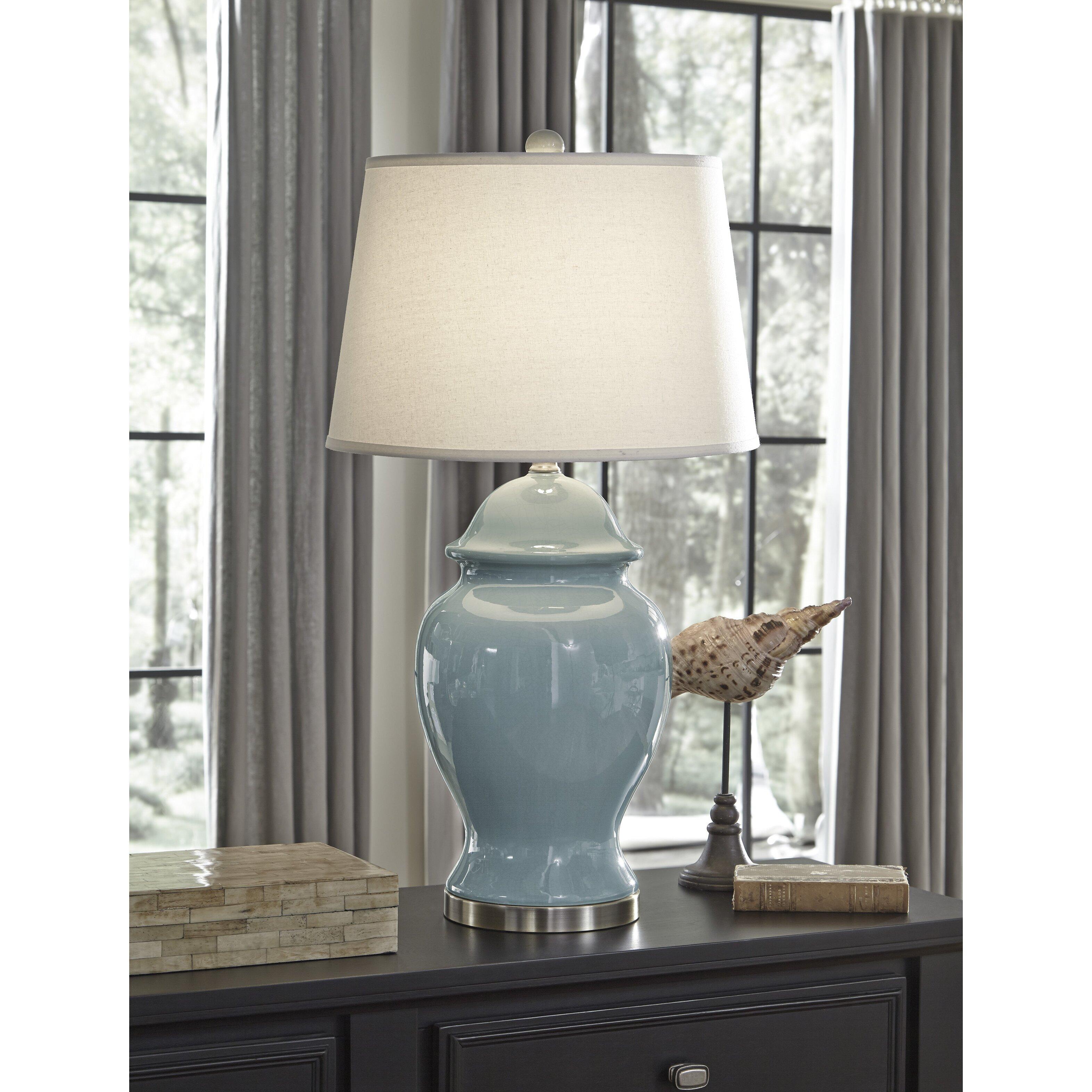 "Beachcrest Home Gotha 3 Light Vanity Light Reviews: Beachcrest Home Greeley 31.75"" Table Lamp & Reviews"