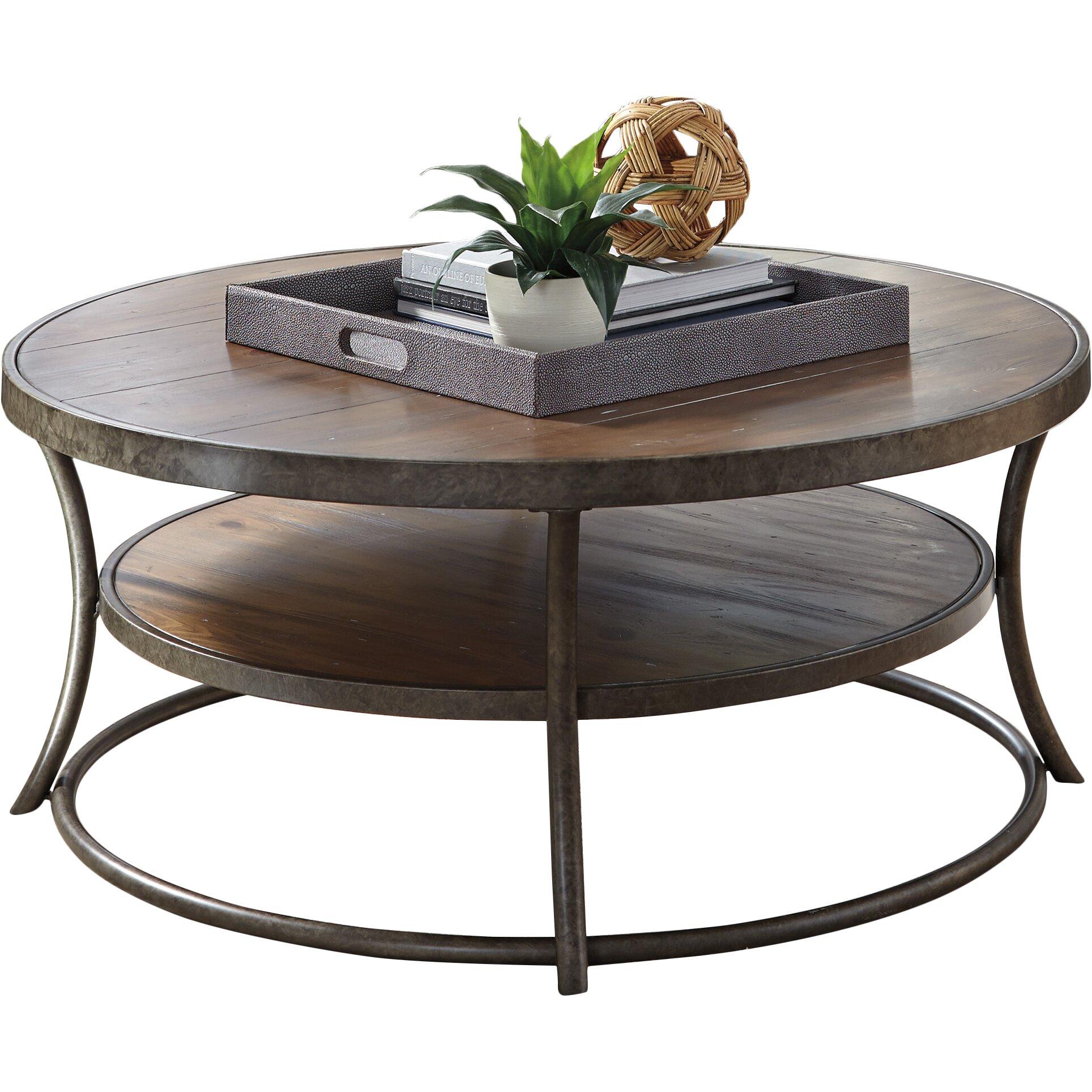 Nailhead Accents Loon Peak Reg Bendeleben Coffee Table