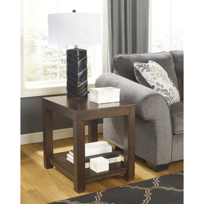 Ashley Furniture Kitchener Loon Peak Cattle Creek End Table Reviews Wayfair