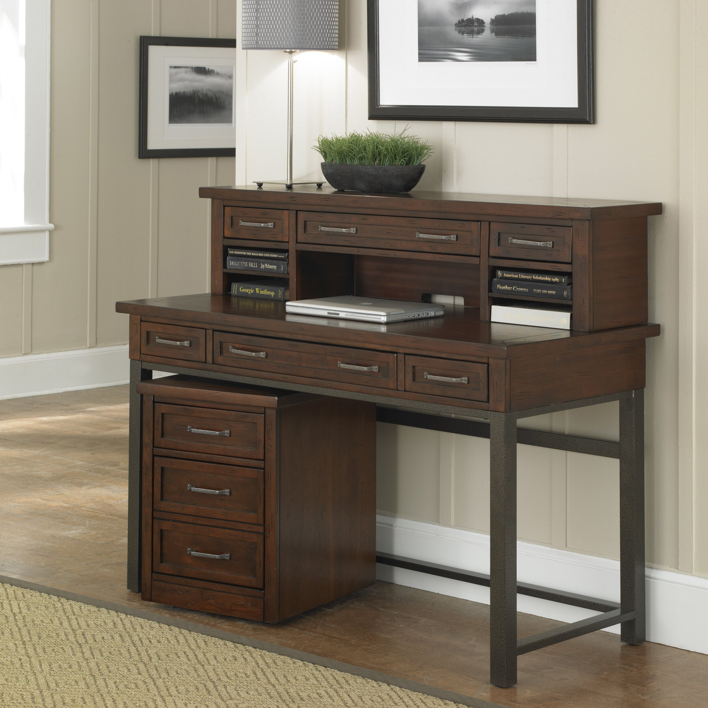 loon peak rockvale computer desk hutch reviews wayfair loon peak reg rockvale computer desk hutch