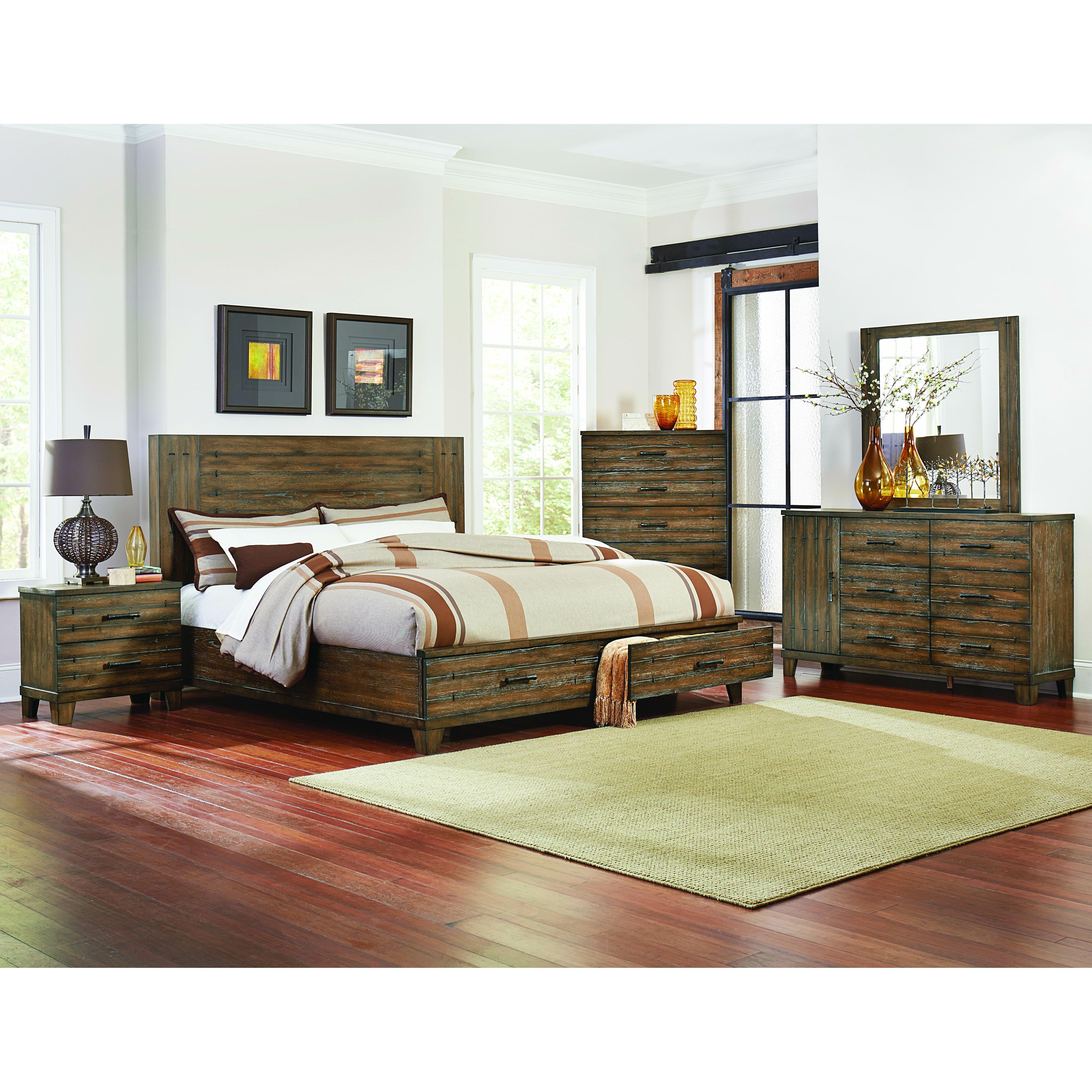 Lane Bedroom Furniture Empire Storage Platform Bed Birch Lane
