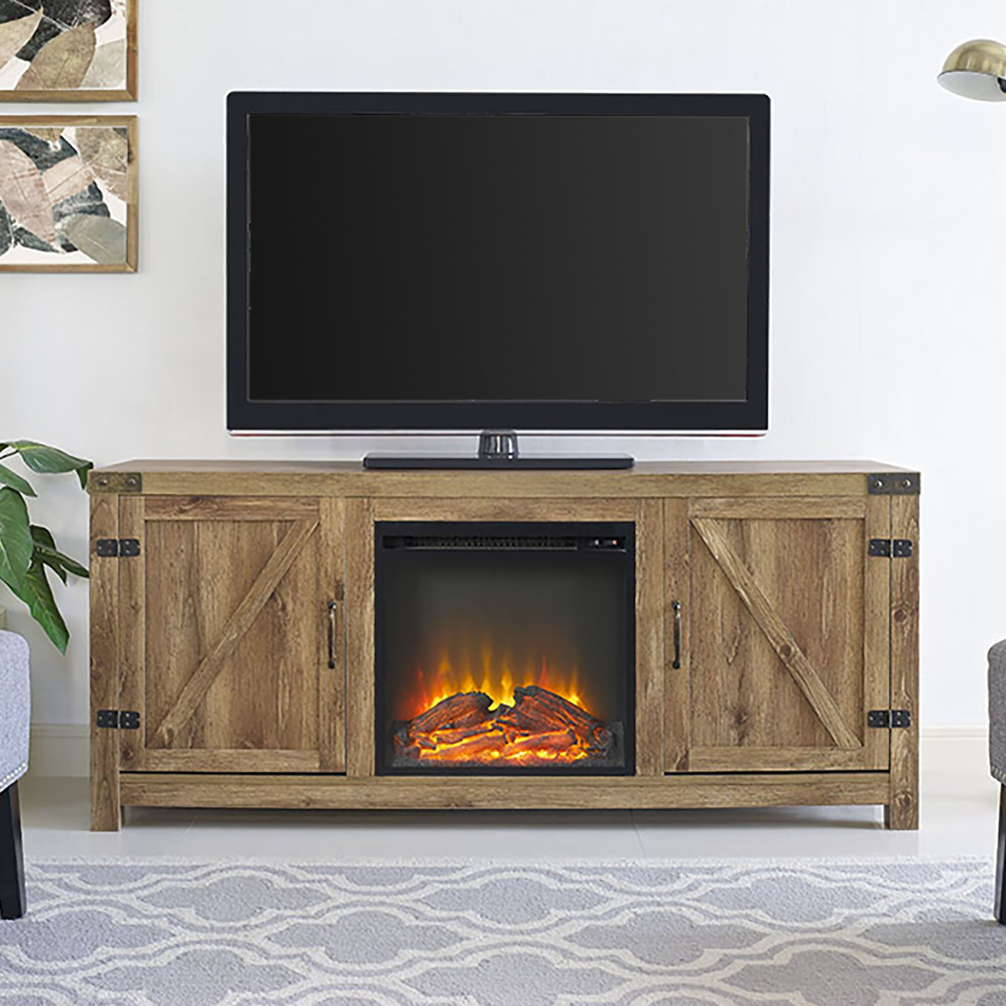 Loon Peak Anken Tv Stand With Electric Fireplace Amp Reviews