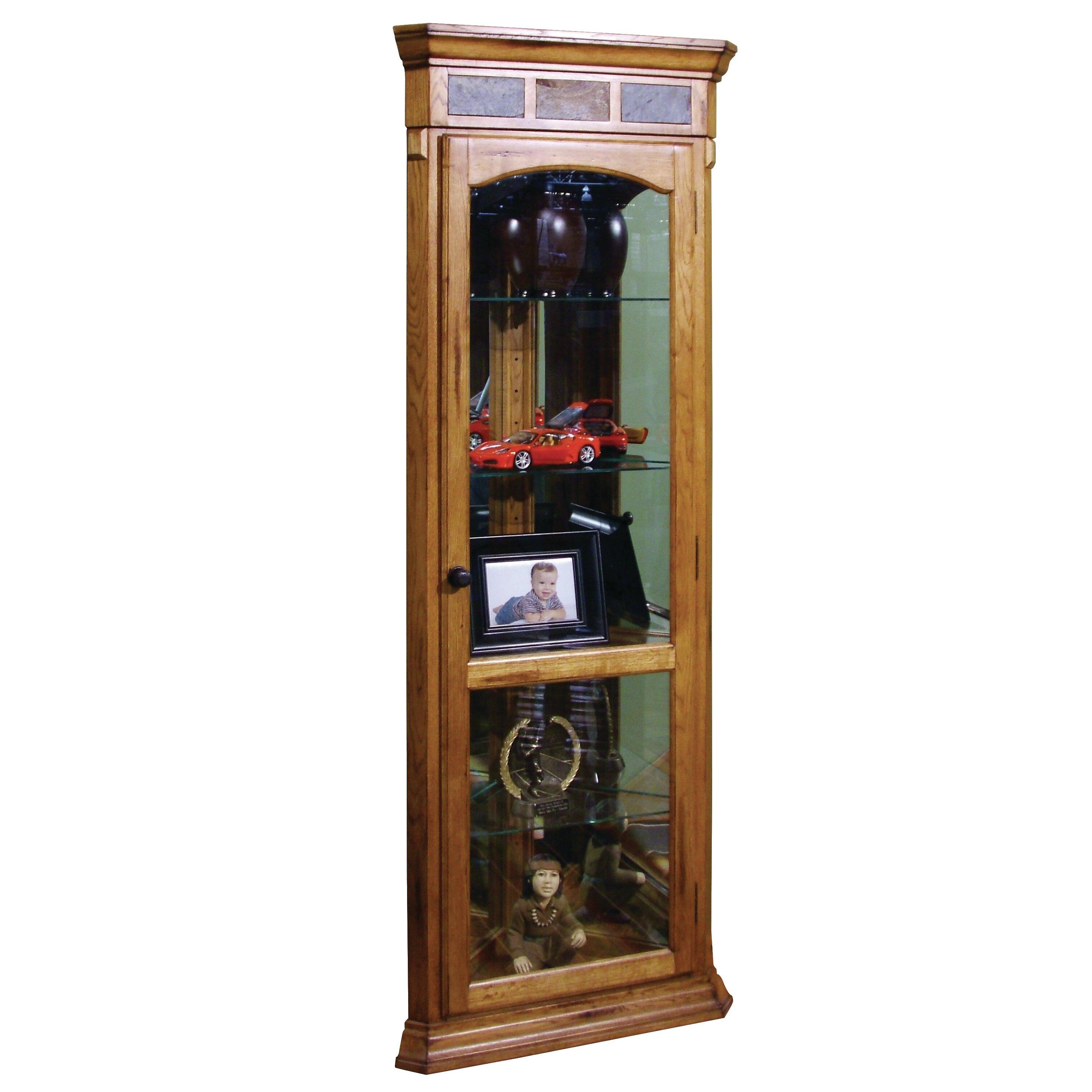 Jasper Curio Cabinet Loon Peak Fresno Corner Curio Cabinet Reviews Wayfair