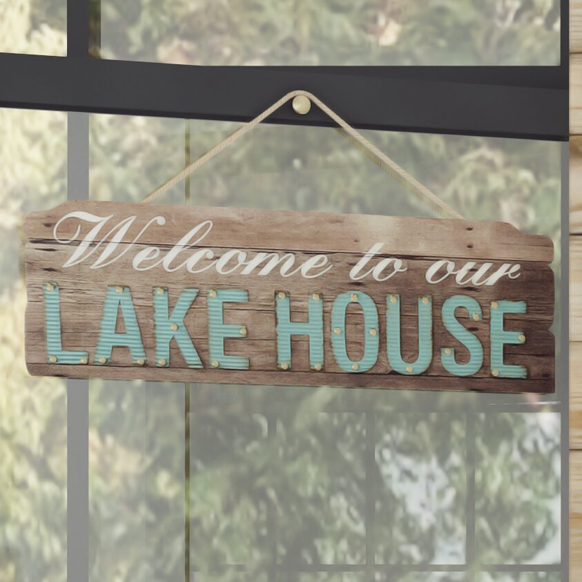 Lake Home Decor: Loon Peak Welcome To Our Lake House Wall Décor & Reviews
